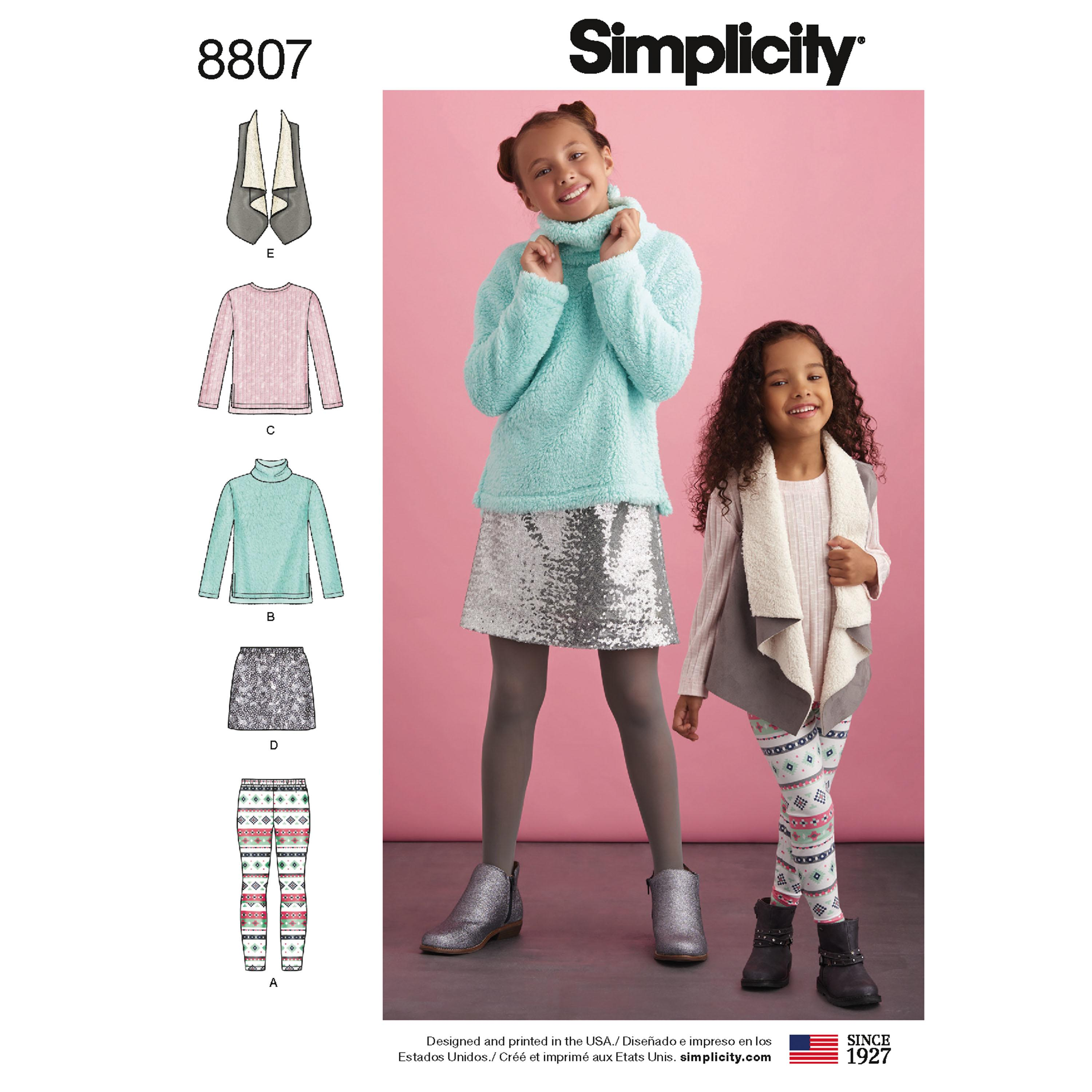 Simplicity S8807 Child and Girls  Sportswear