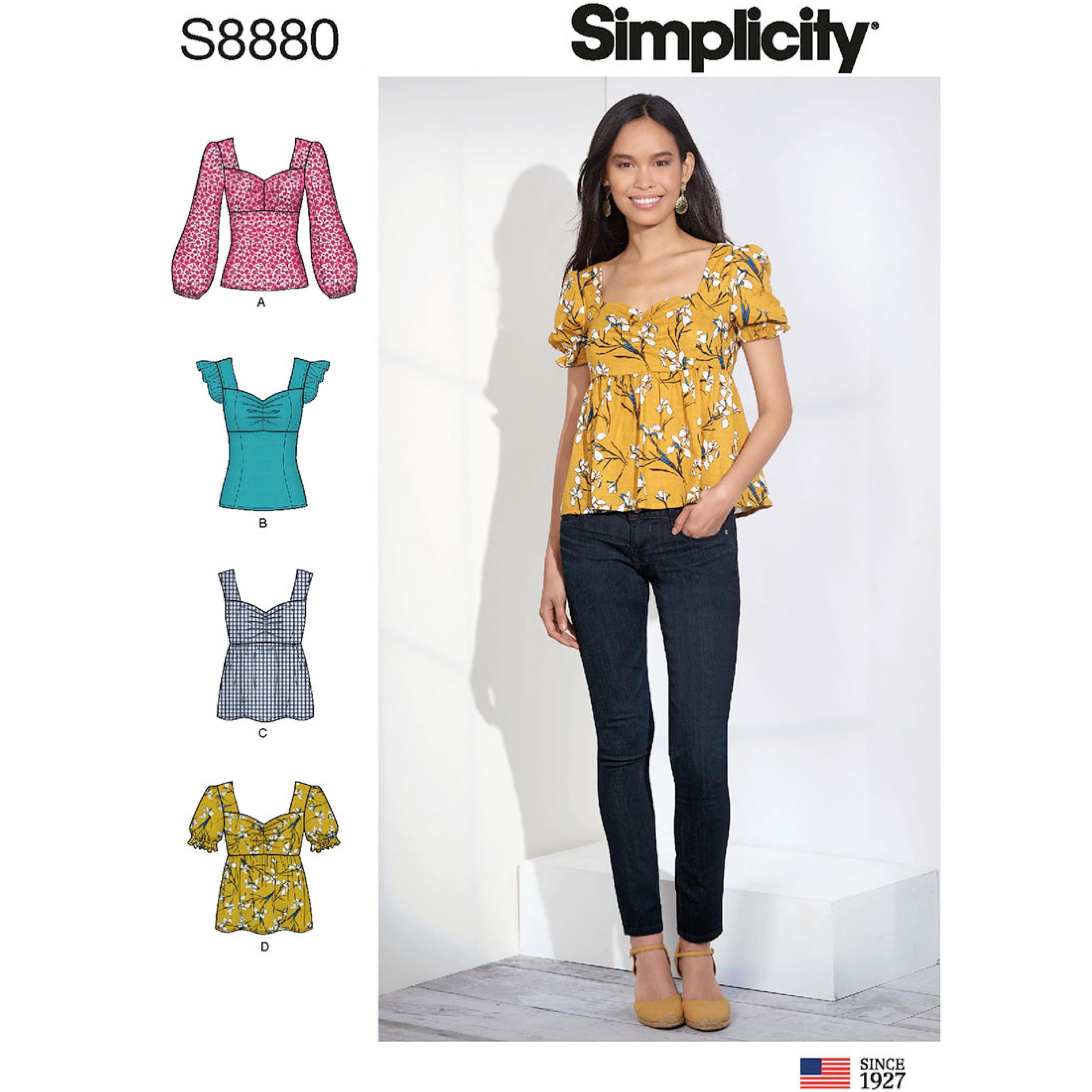 Simplicity S8880 Misses' Tops
