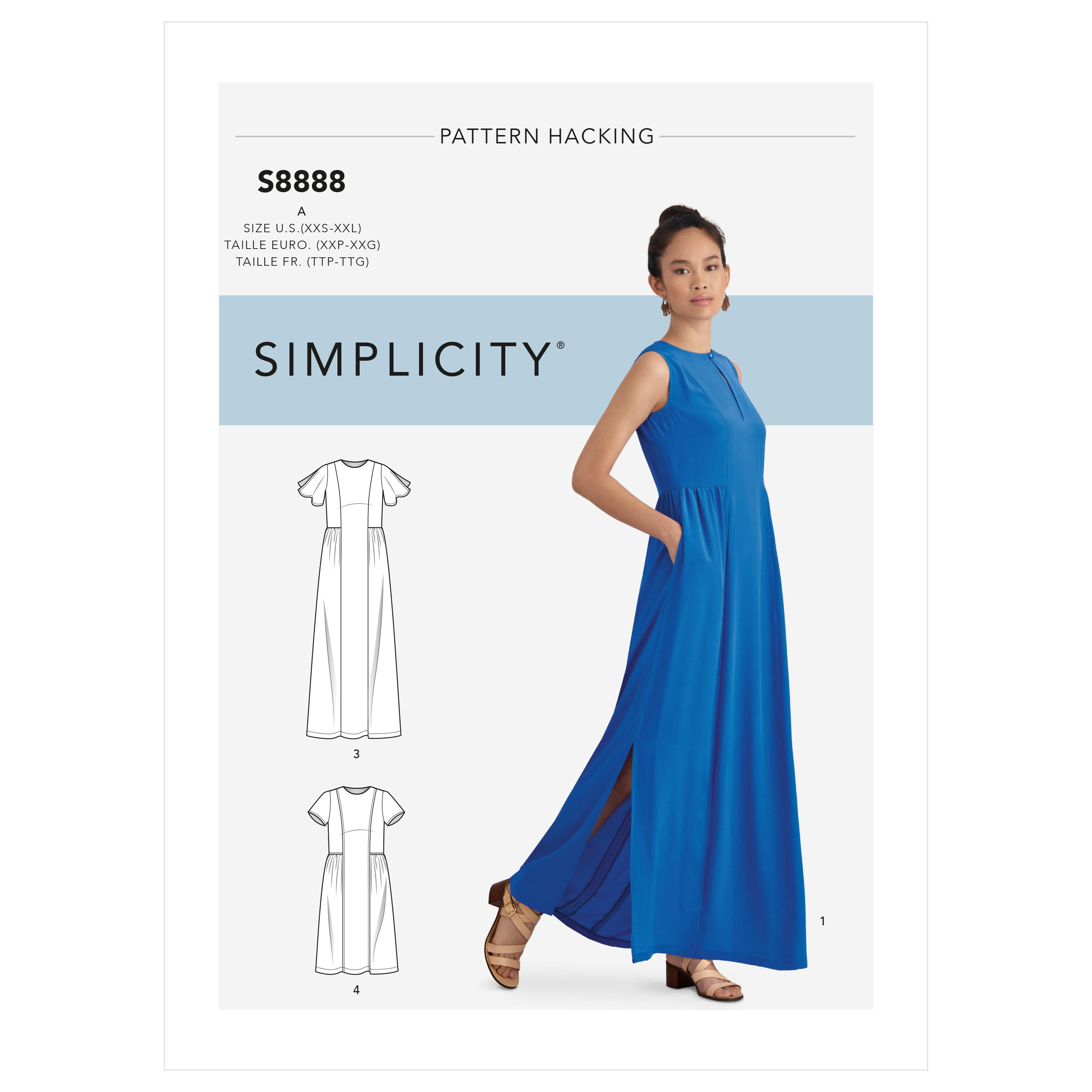 Simplicity S8888 Misses' Design Hacking Dress