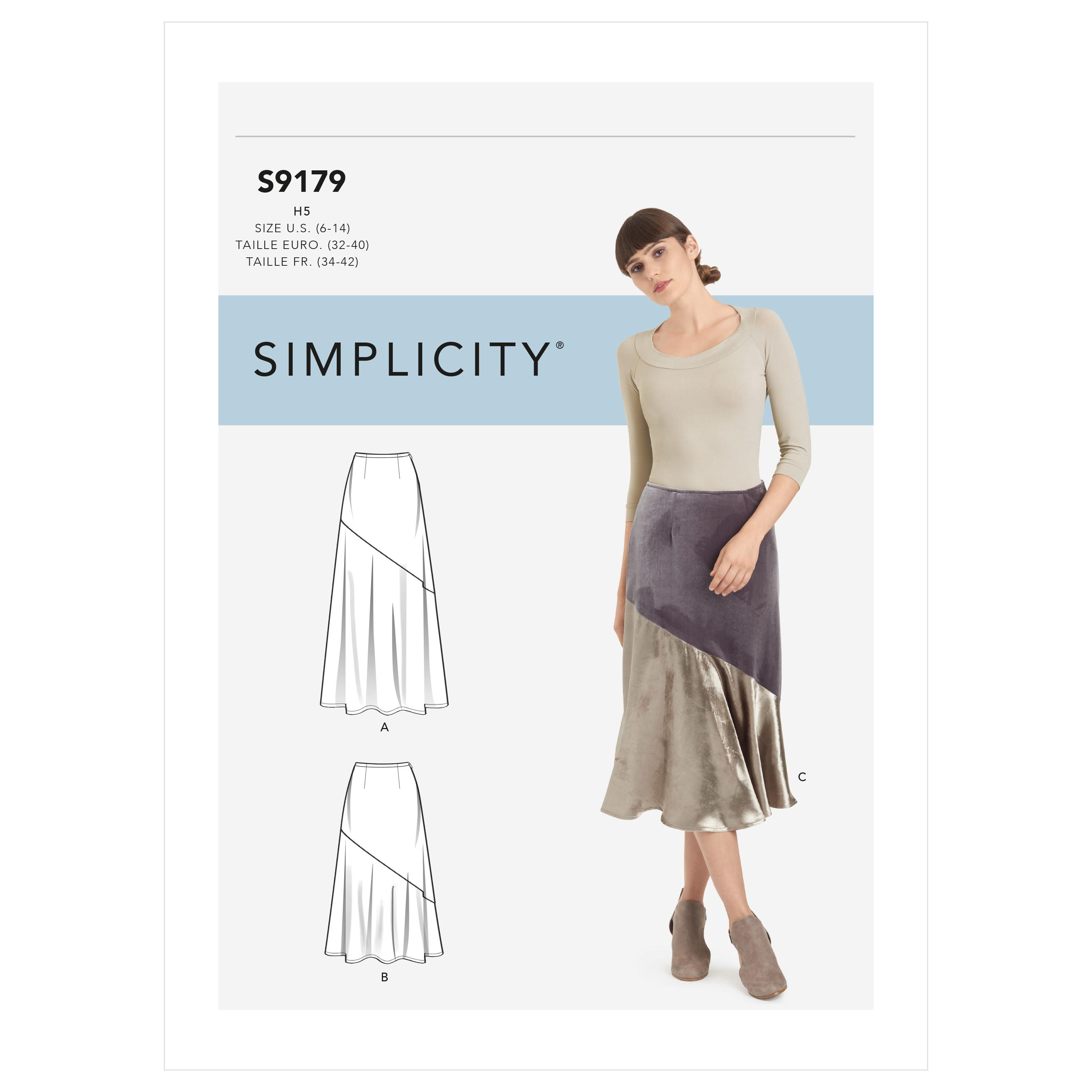 Simplicity S9179 Misses' Skirts