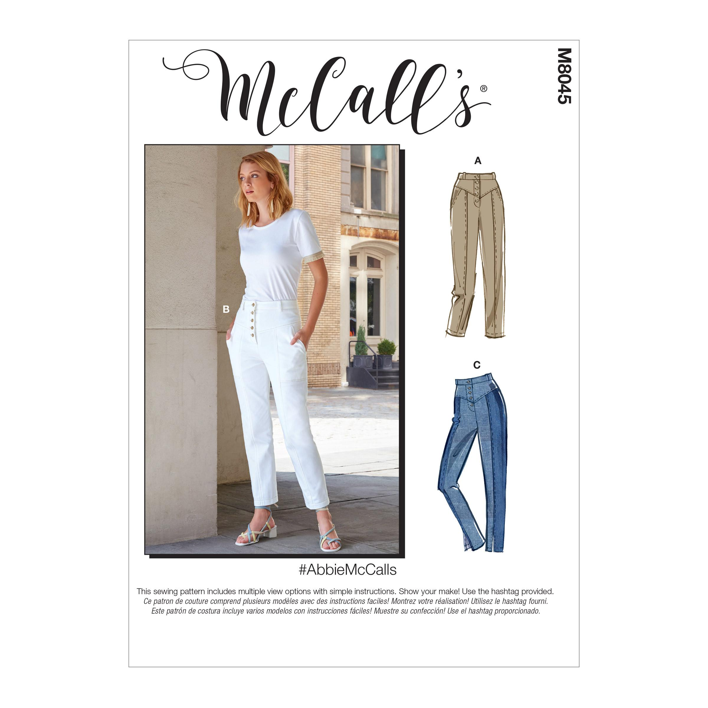 McCalls M8045 Misses Pants, Jumpsuits & Shorts