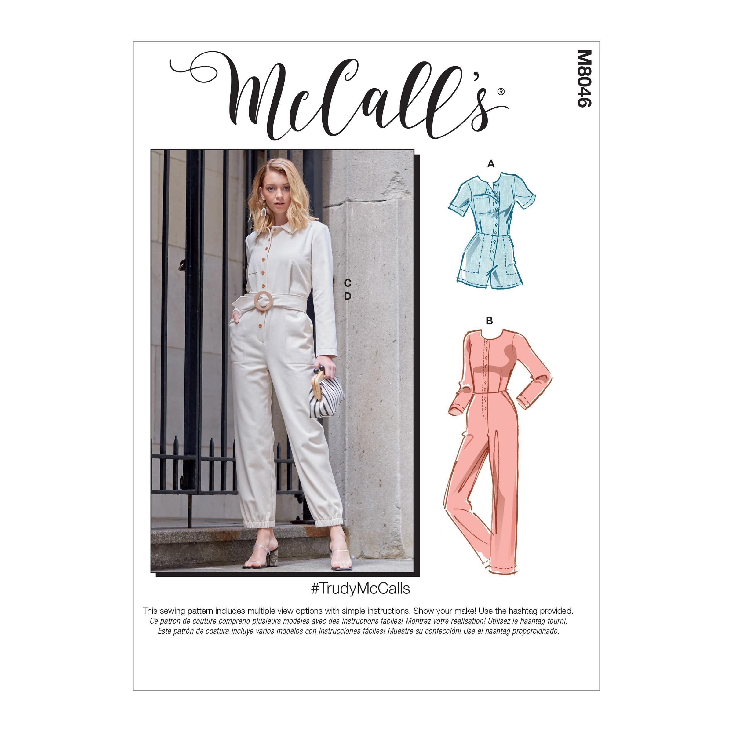 McCalls M8046 Misses Pants, Jumpsuits & Shorts
