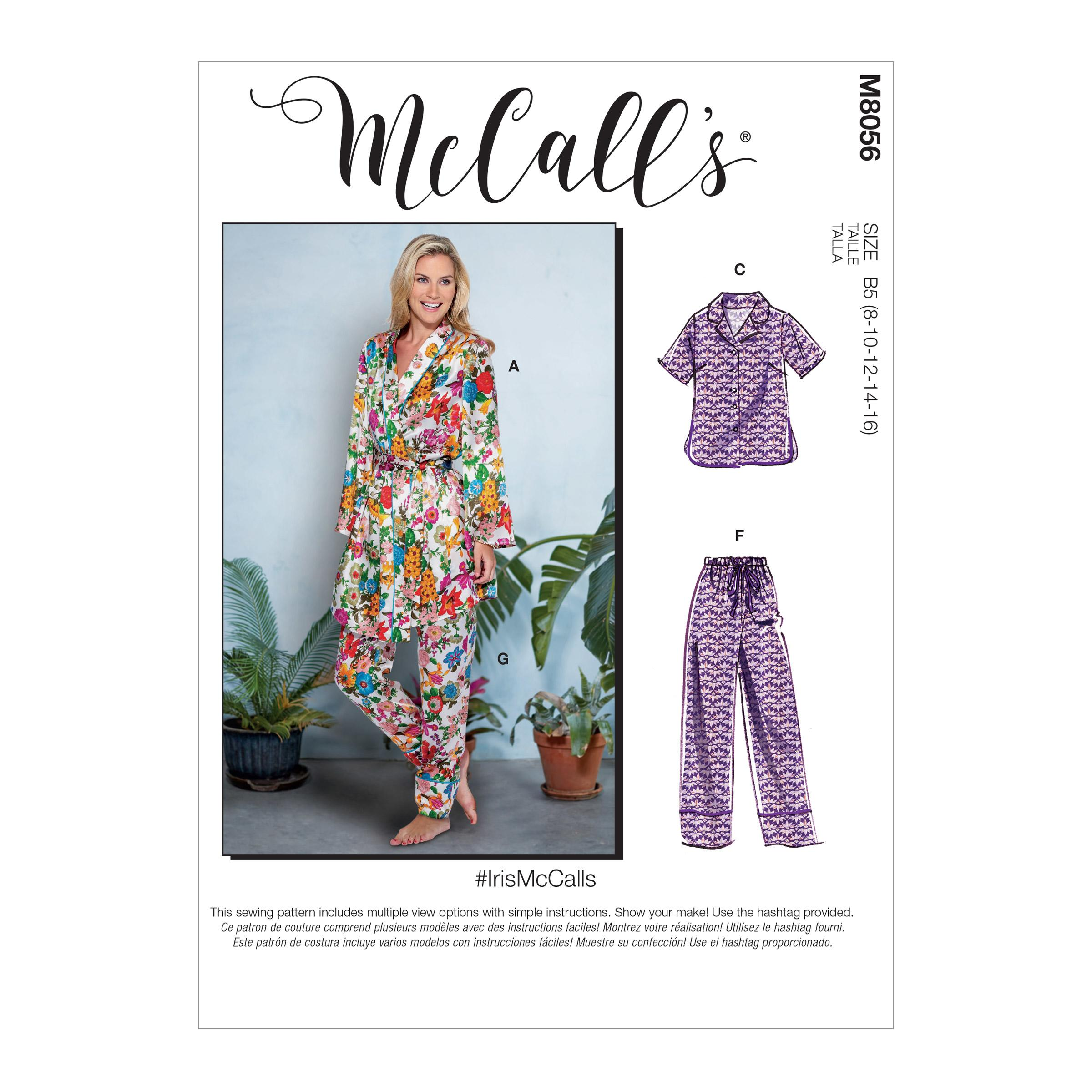 McCalls M8056 Family Sleepwear