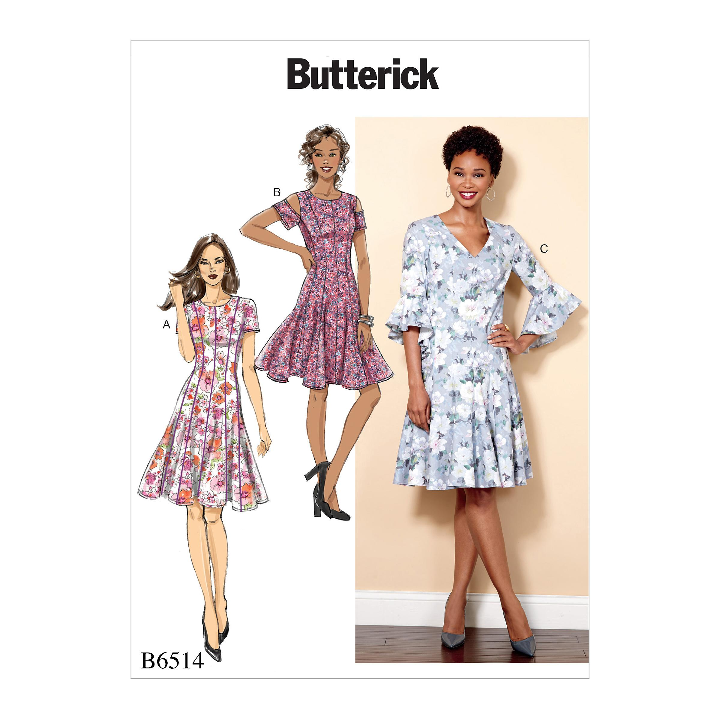 Butterick B6514 Misses'/Miss Petite Paneled Dress