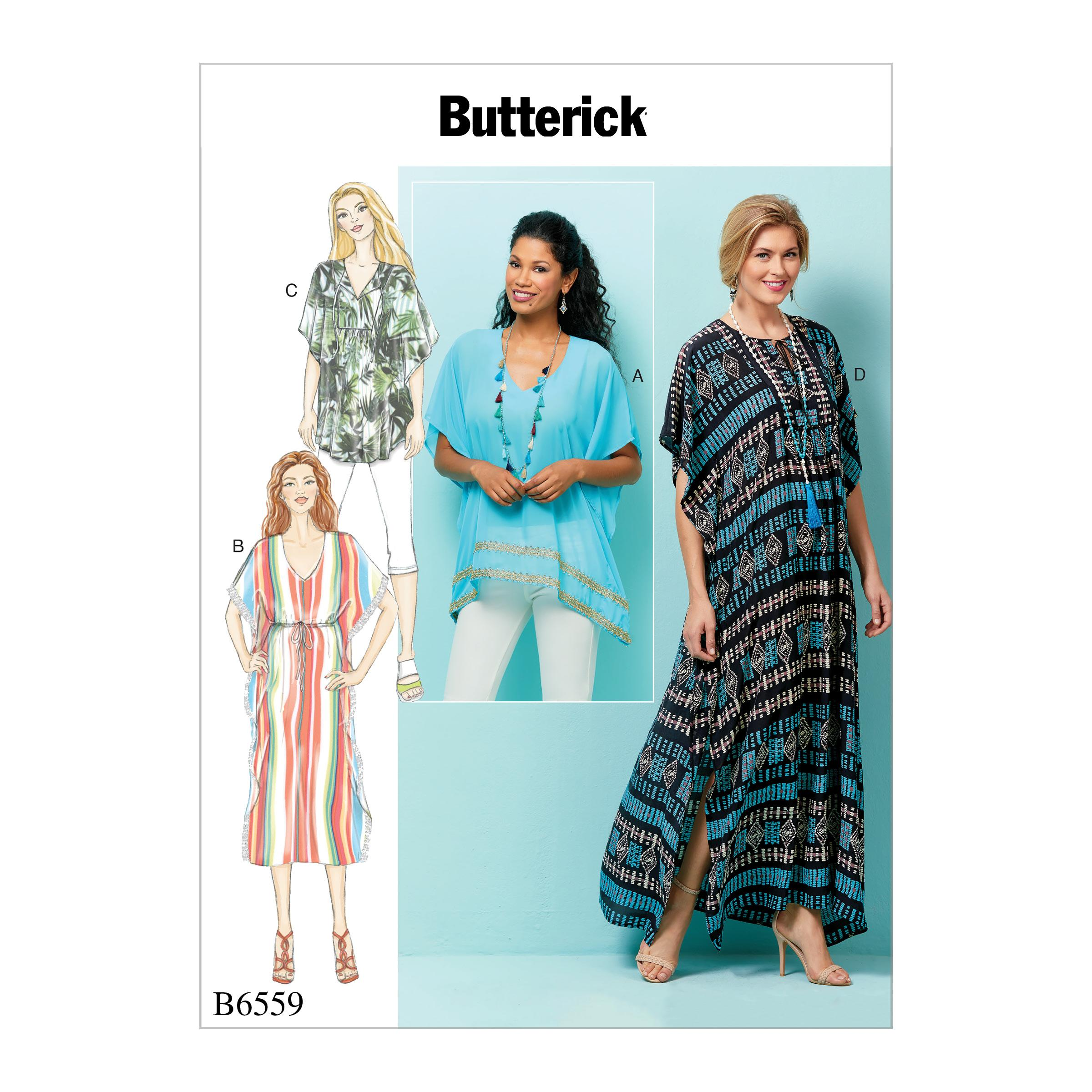 Butterick B6559 Misses' Top, Tunic and Caftan