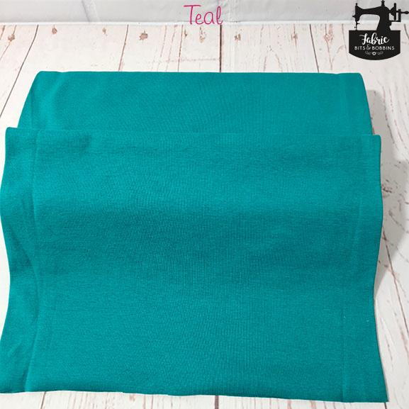 Teal Tubular Jersey Ribbing Fabric