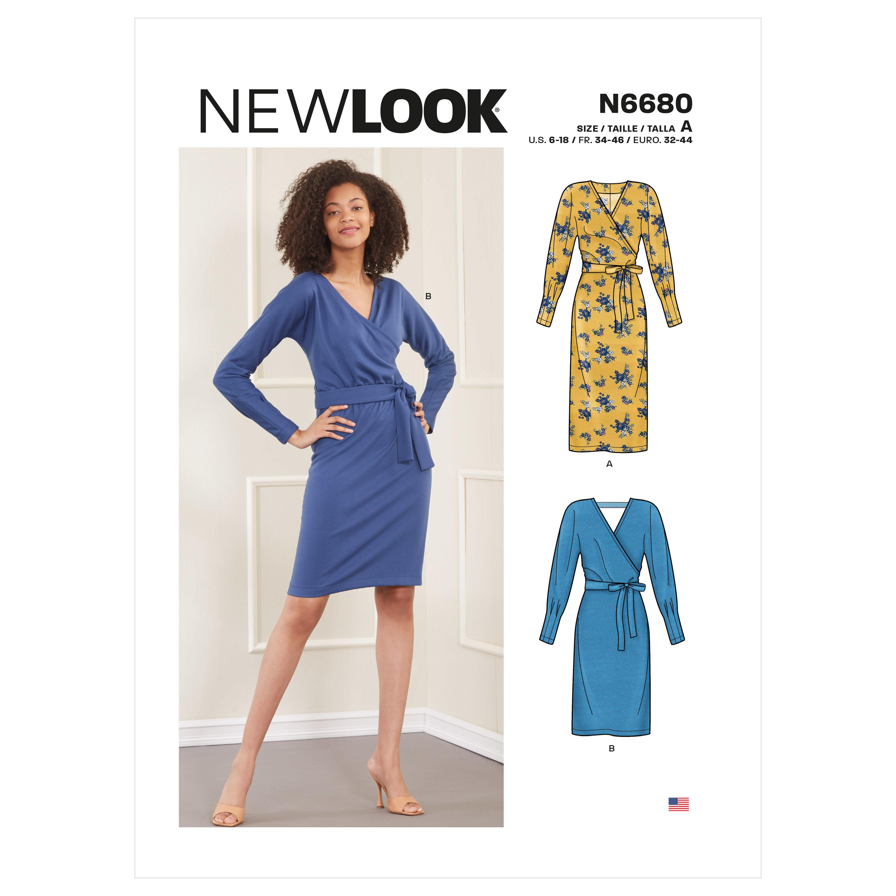 New Look Sewing Pattern N6680 Misses' Knit Dress