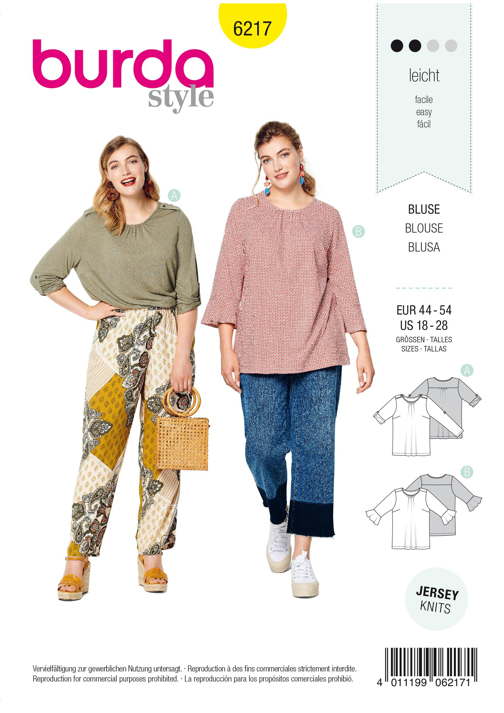 Burda B6217 Top Sewing Pattern