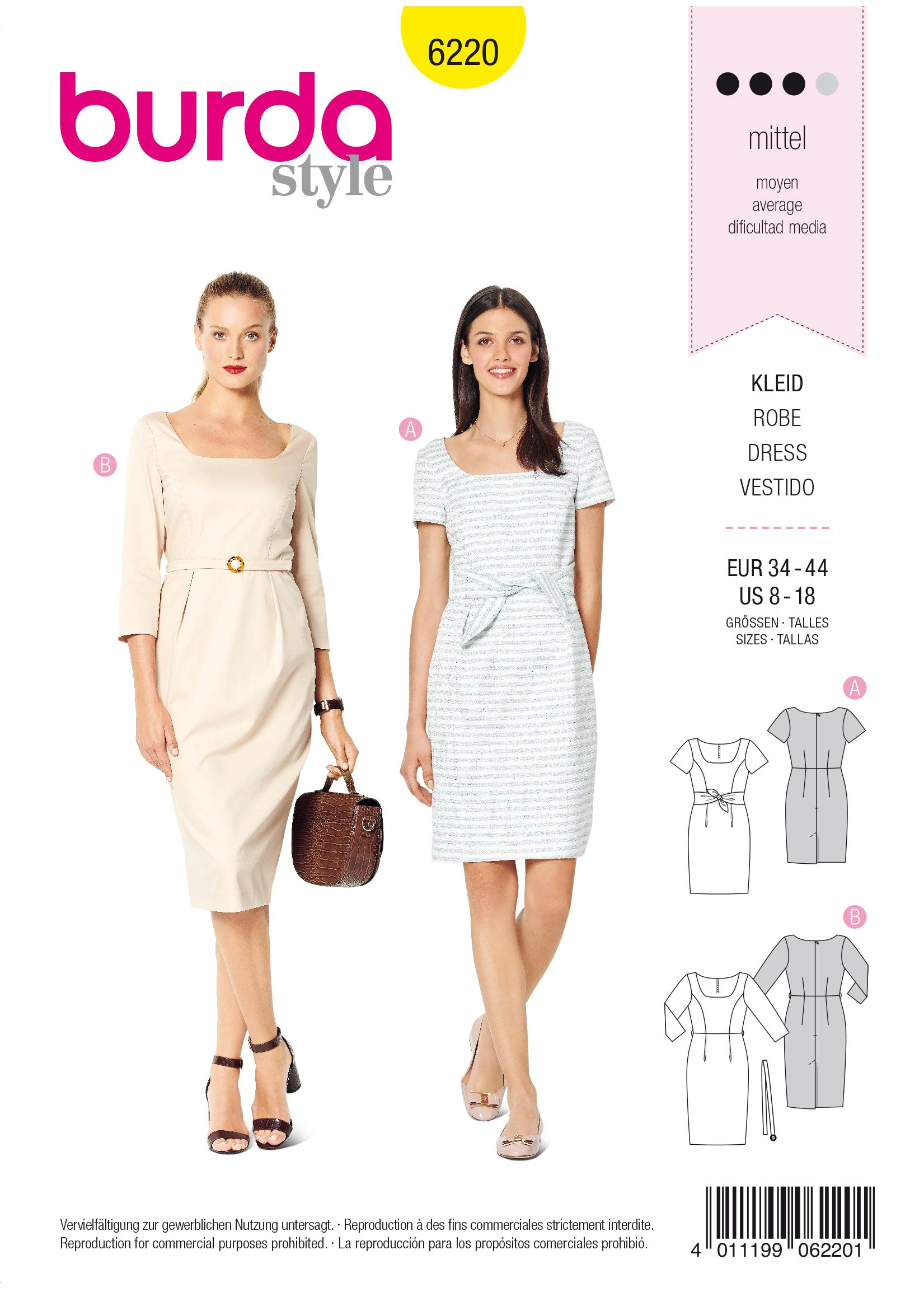 Burda B6220 Dress Sewing Pattern