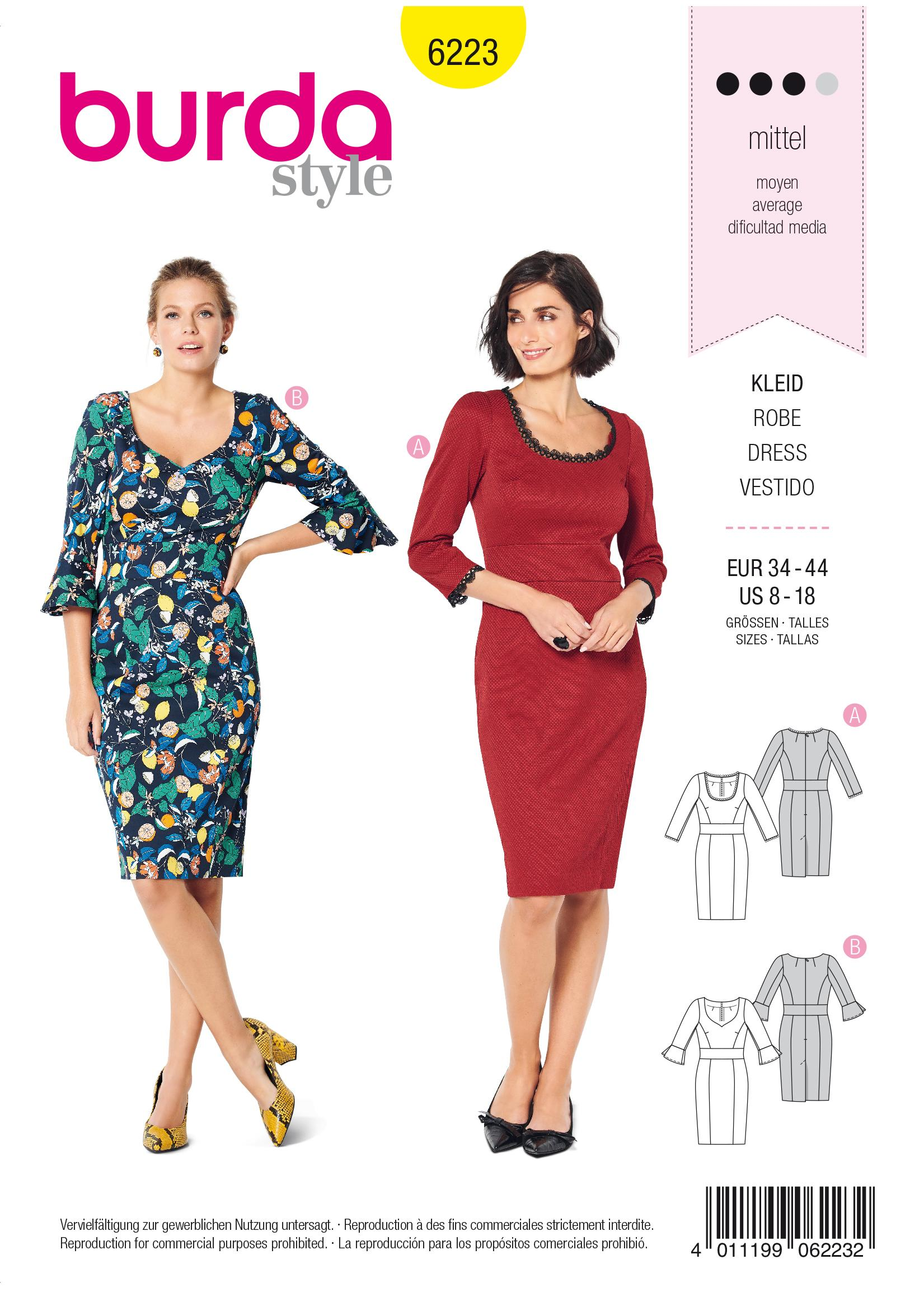 Burda B6223 Dress Sewing Pattern