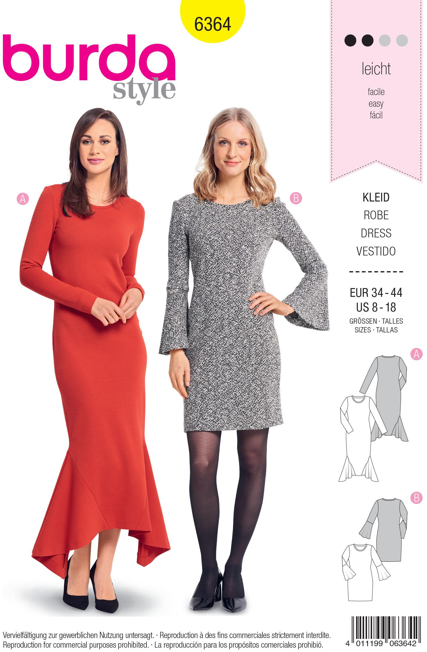 Burda B6364 Women's Dresses