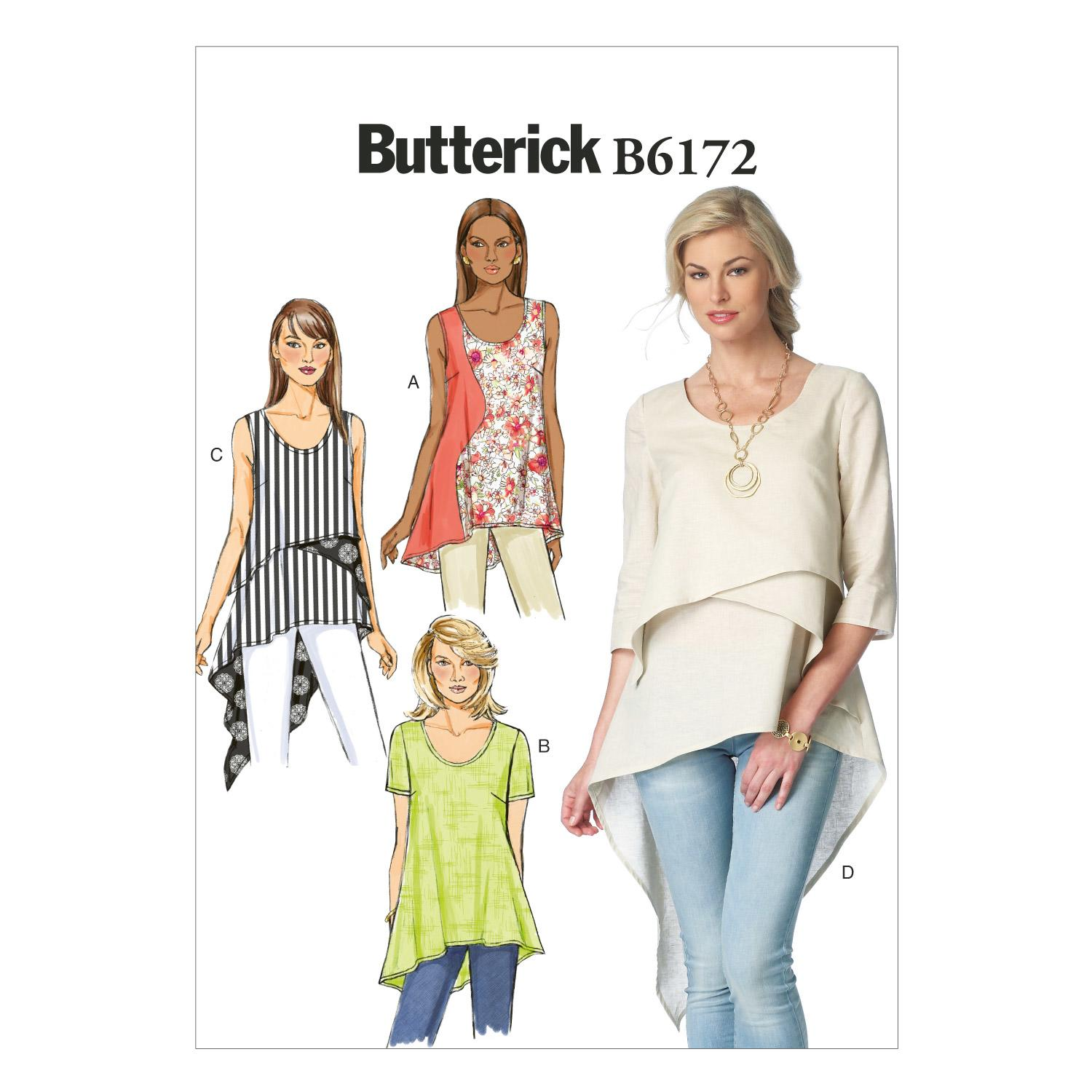 Butterick B6172 Misses' Top and Tunic