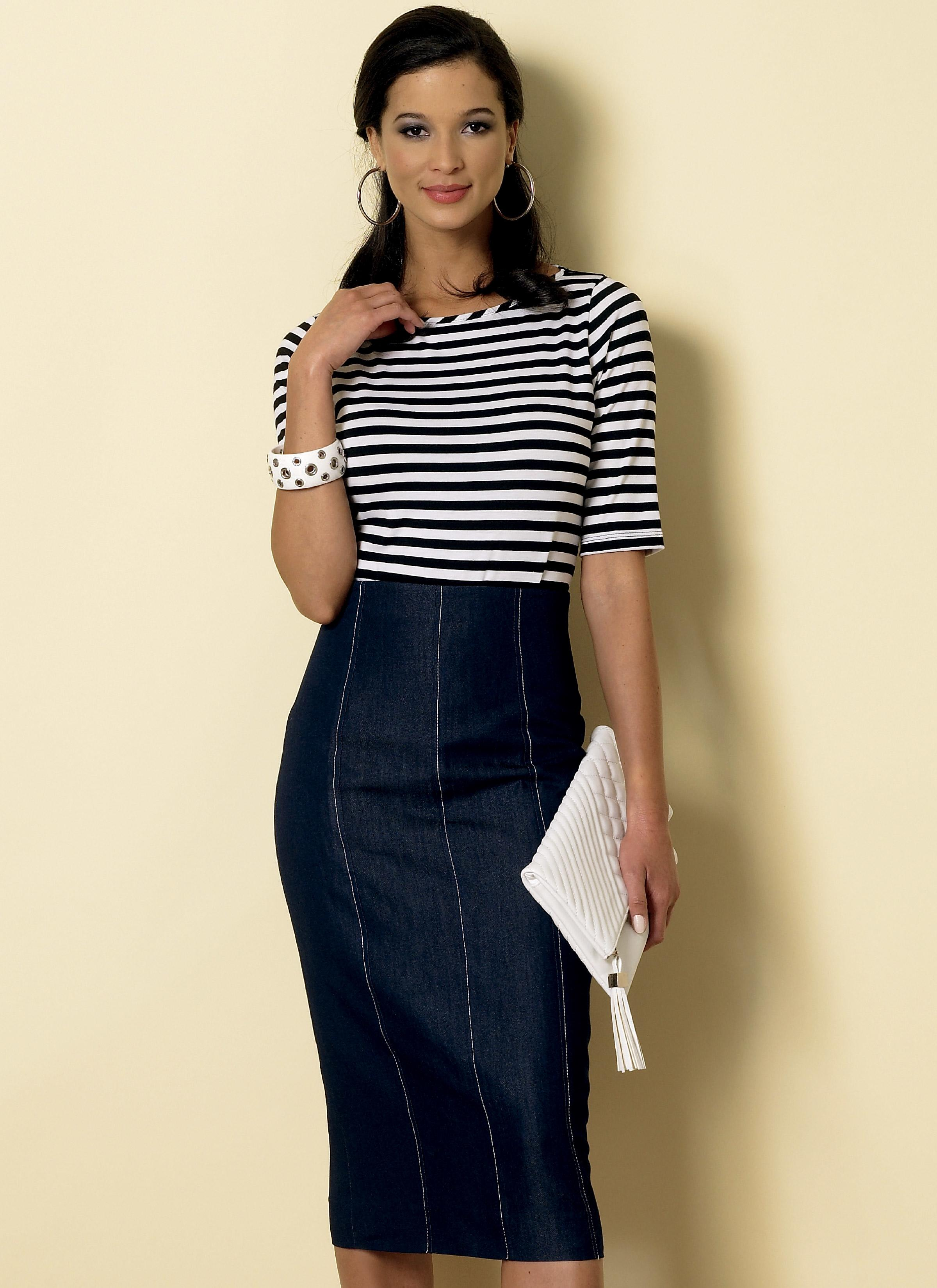 Butterick B6326 Misses' Raised-Waist or Elastic-Waist Skirts