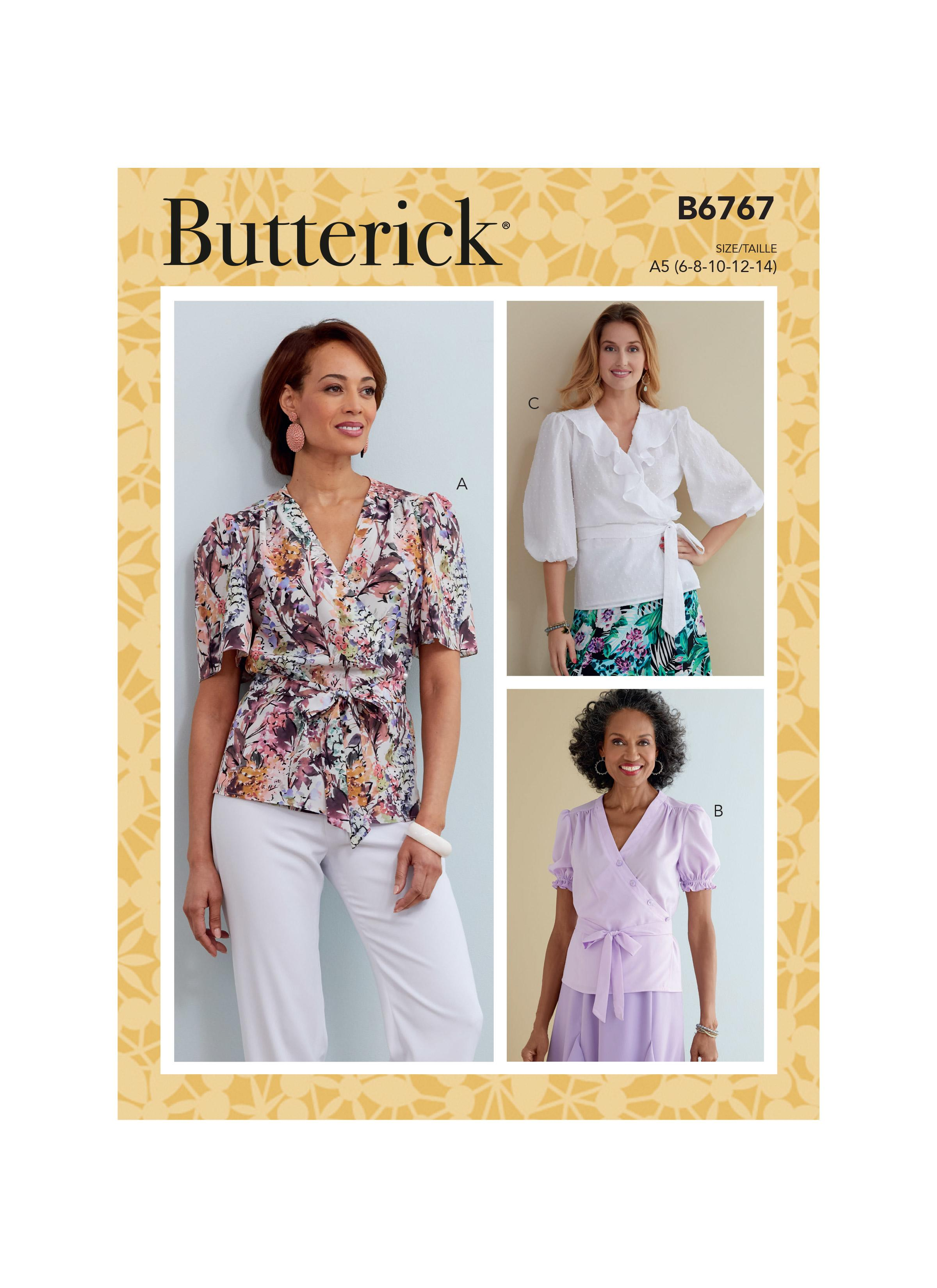 Butterick B6767 Misses' Tops
