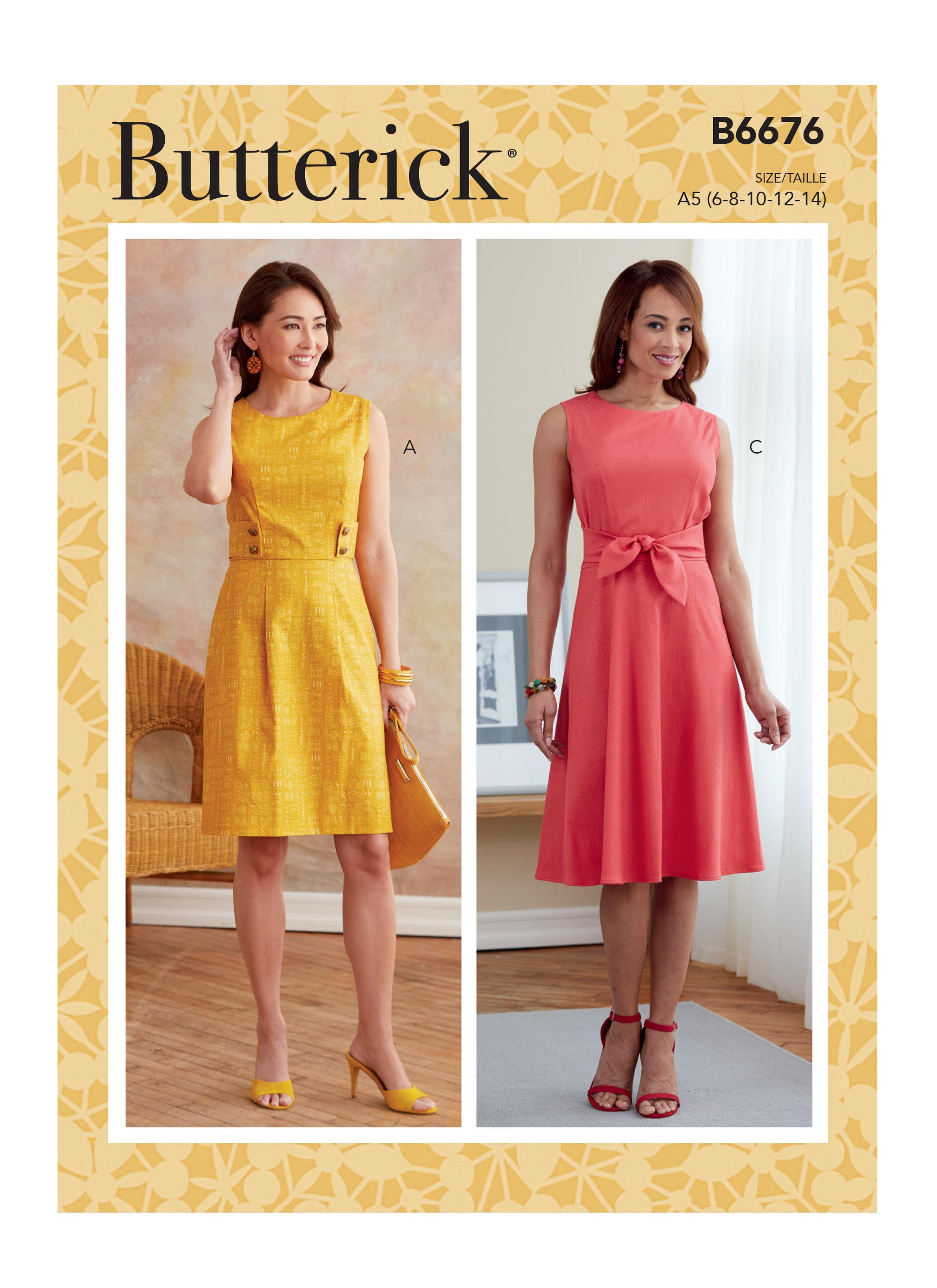 Butterick B6676 Misses' Dress