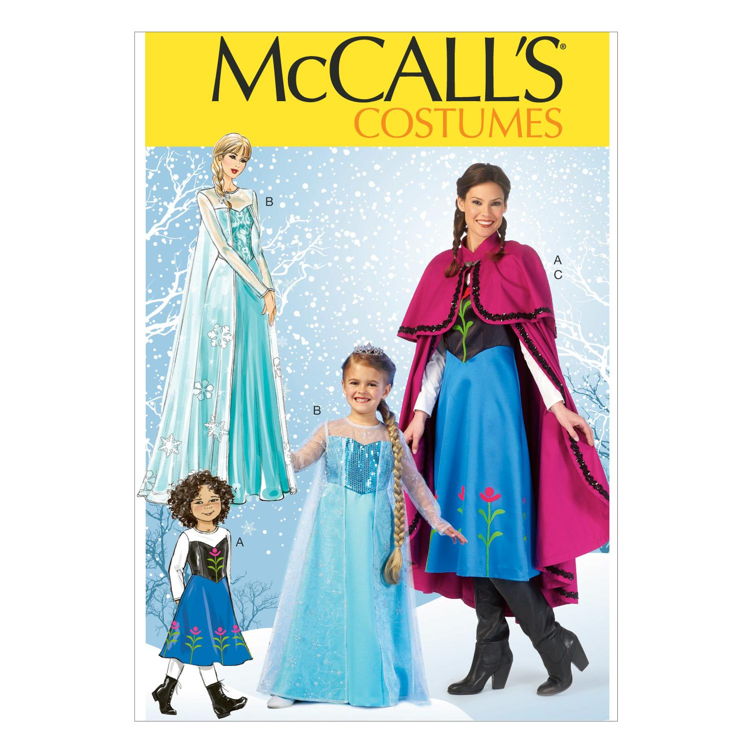 McCalls M7000 Capes & RoBes, Costumes, Dresses, Halloween