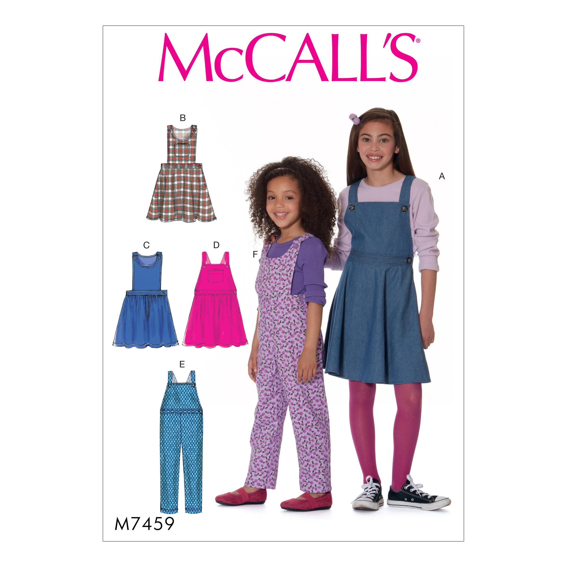 McCalls M7459 Kids Children, Kids Girls & Boys