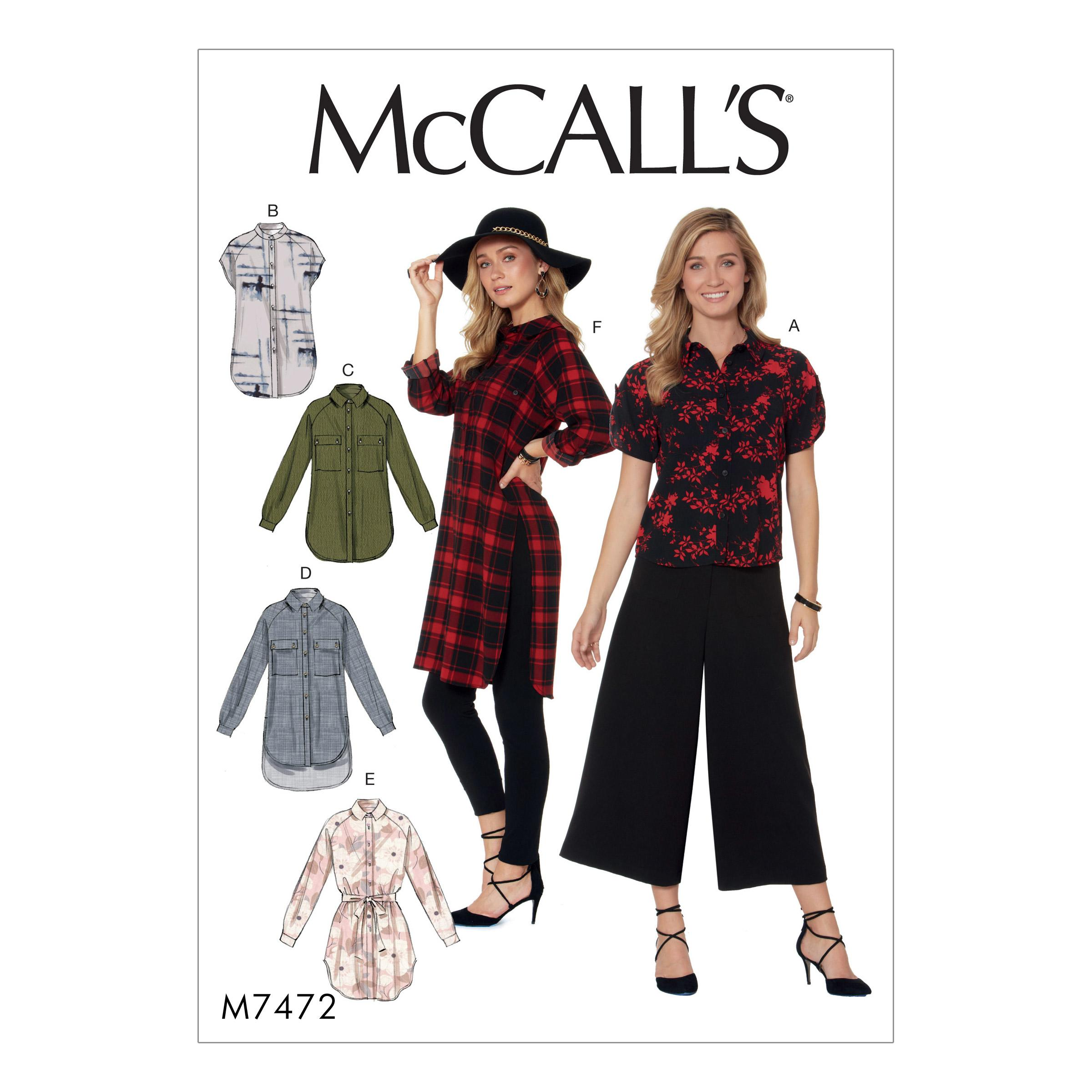 McCalls M7472 Misses Tops