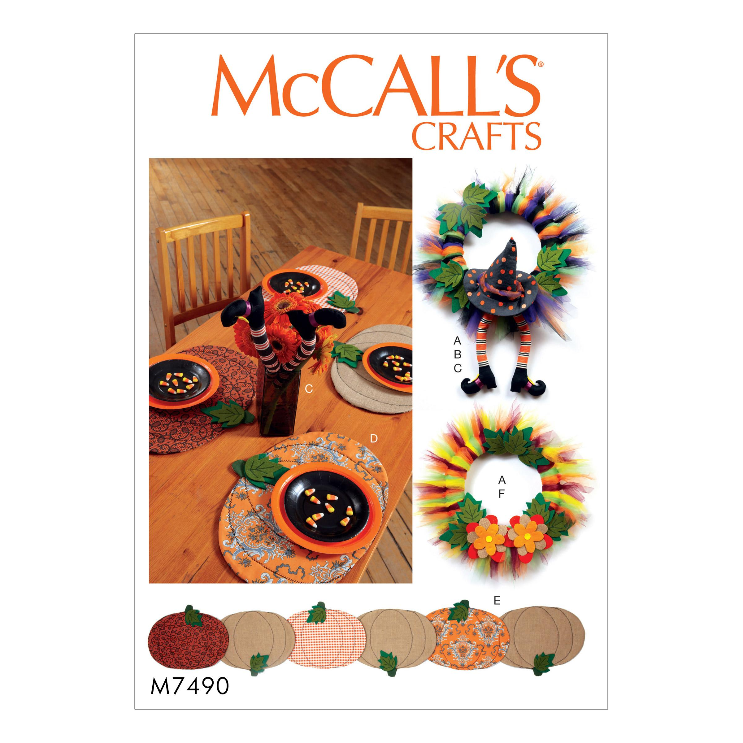 McCalls M7490 Crafts Home & Holiday