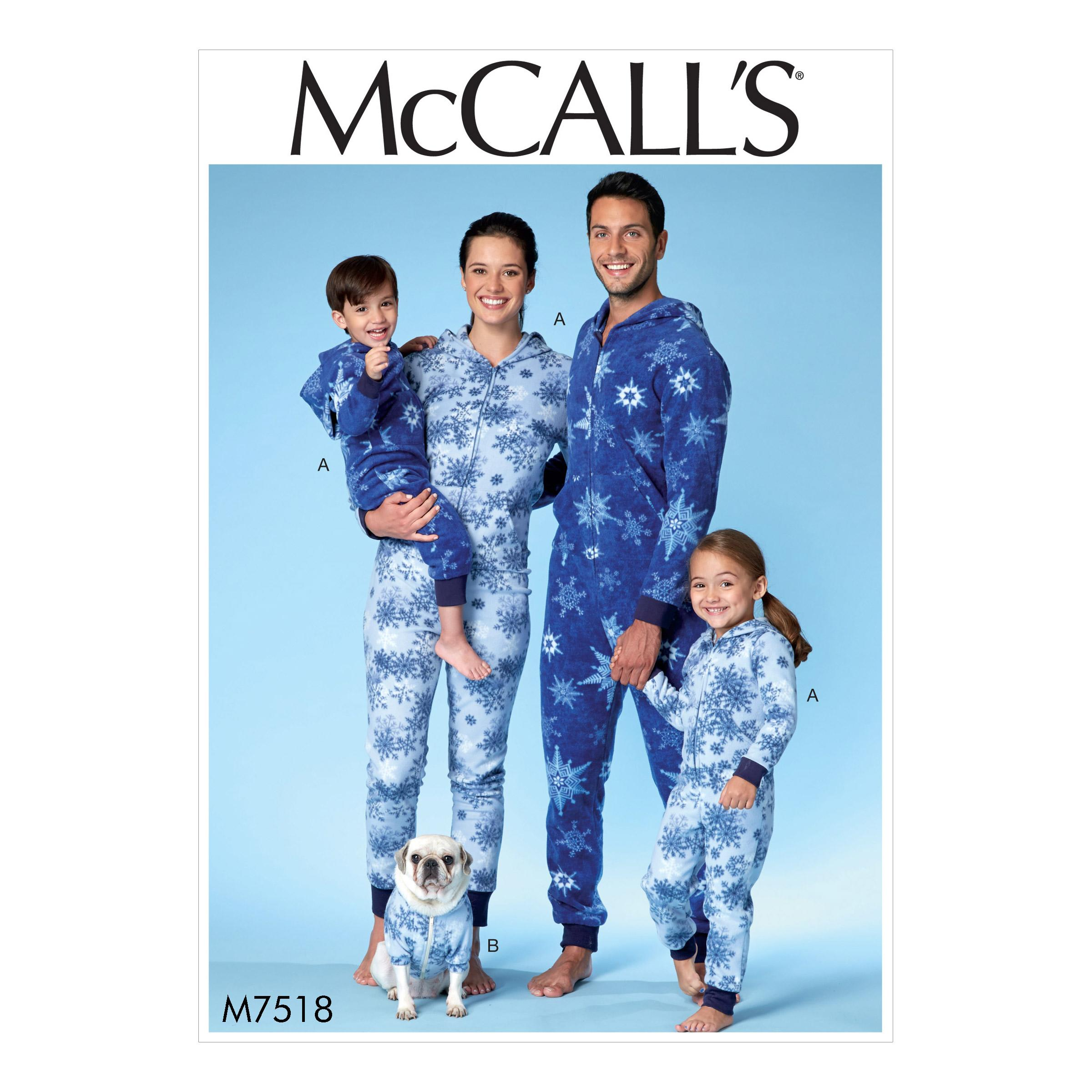 McCalls M7518 Family Sleepwear