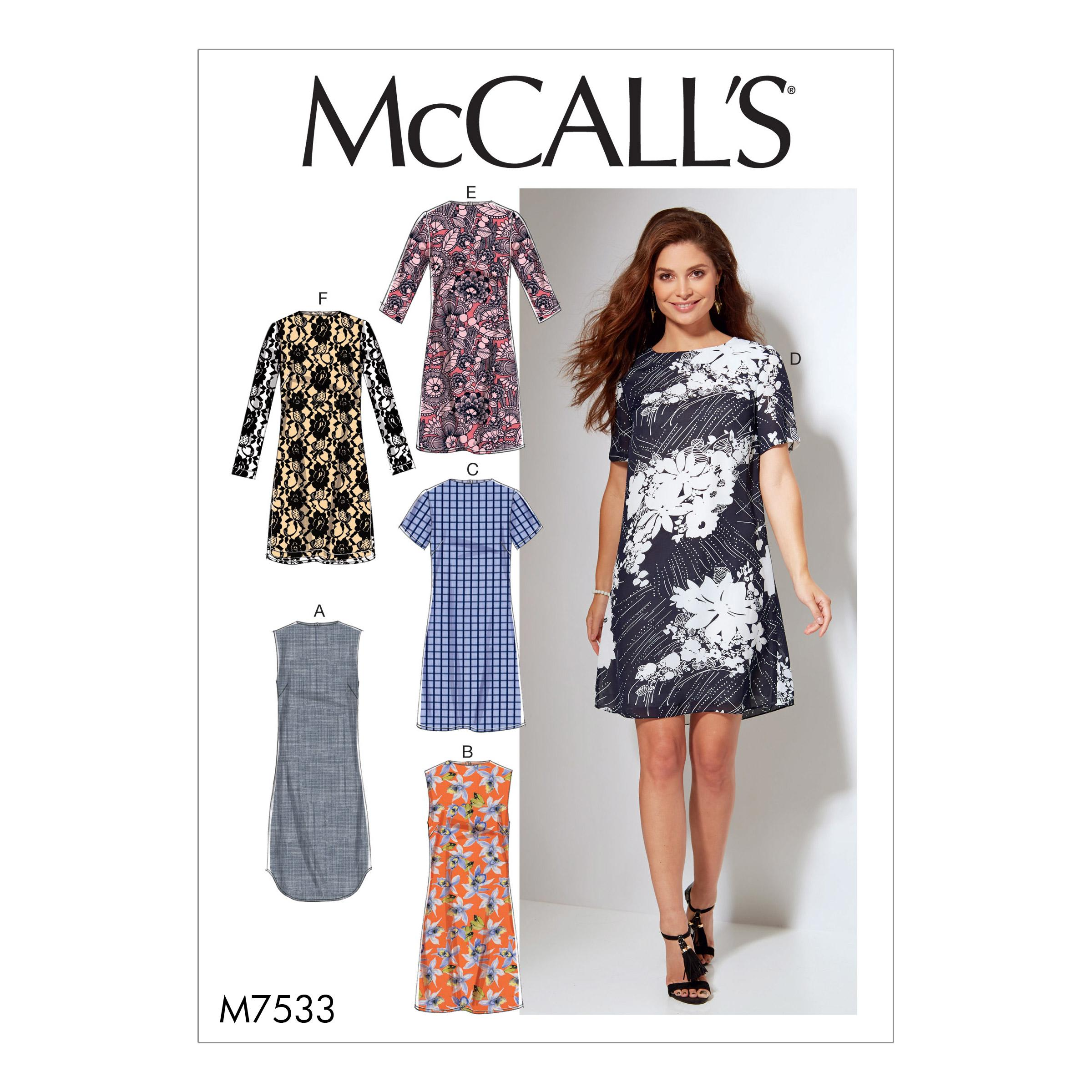 McCalls M7533 Misses Dresses , Plus Sizes