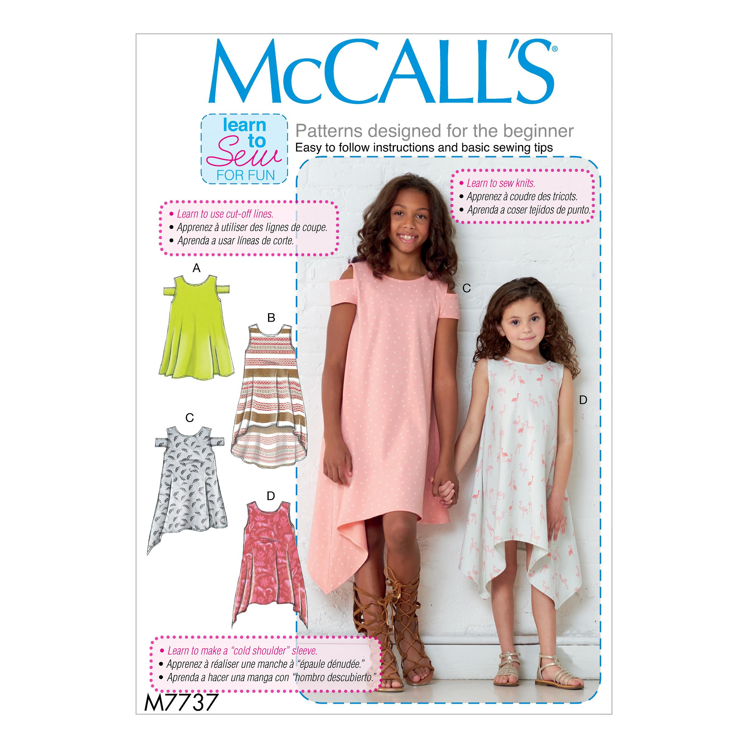 McCalls M7737 Kids Children, Kids Girls & Boys