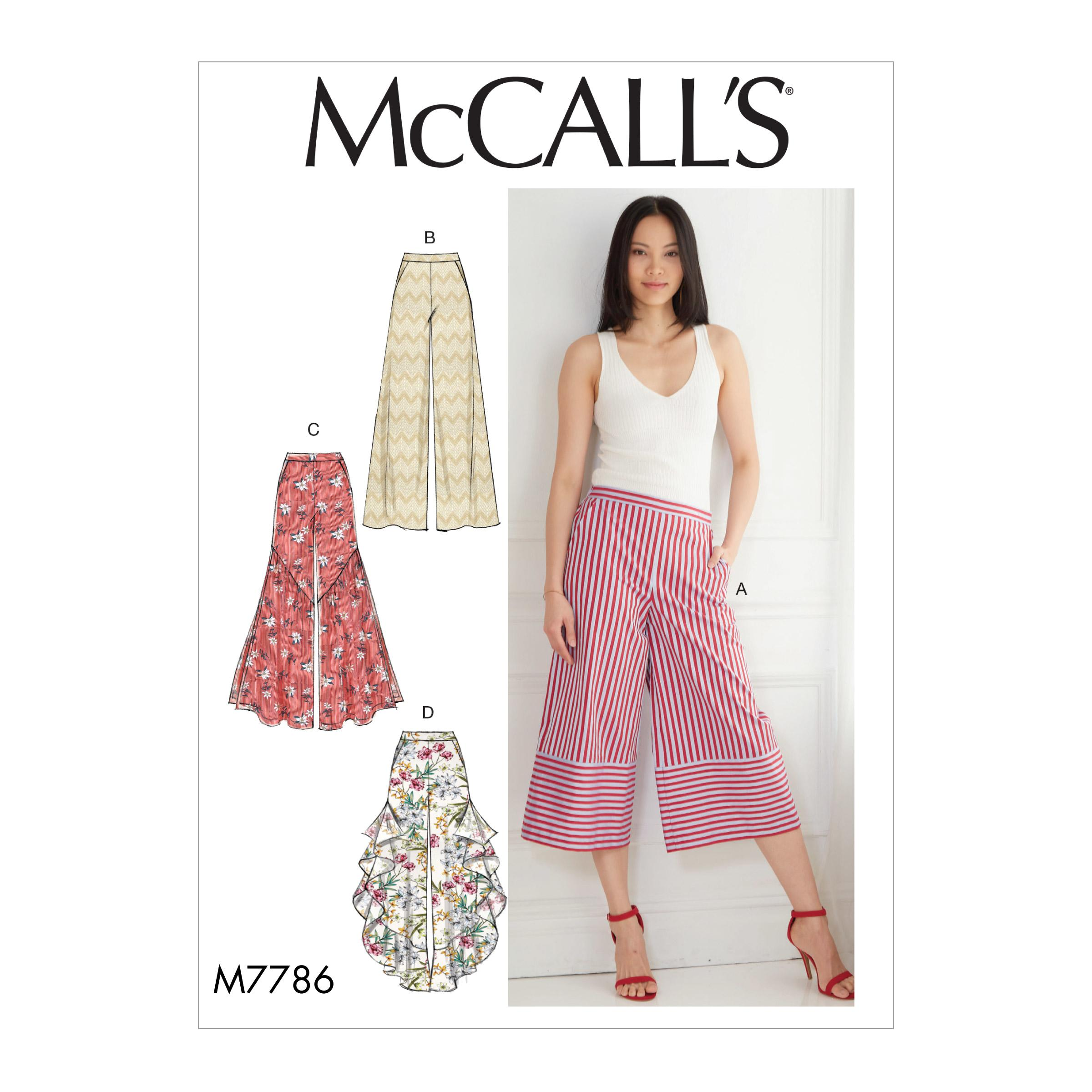 McCalls M7786 Misses Pants, Jumpsuits & Shorts