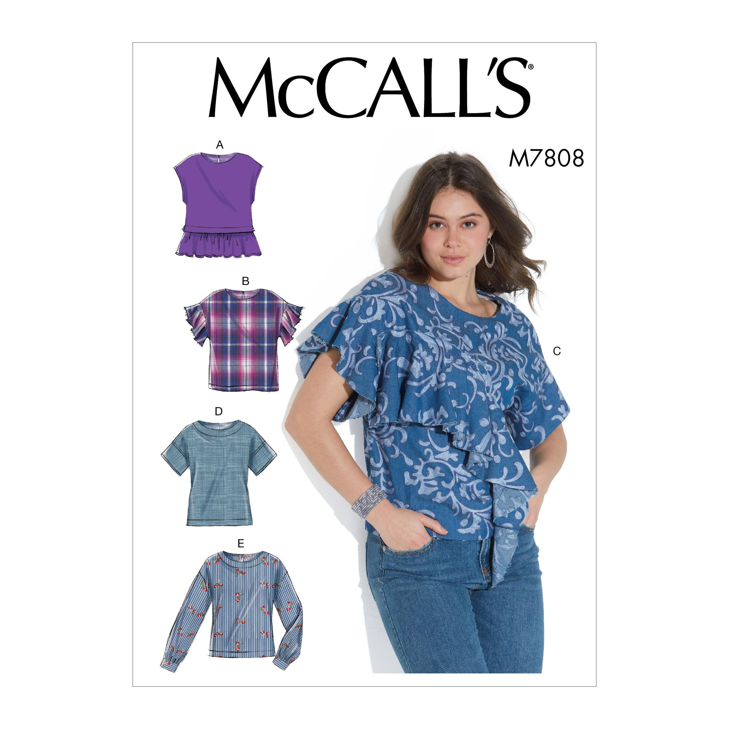McCalls M7808 Misses Tops