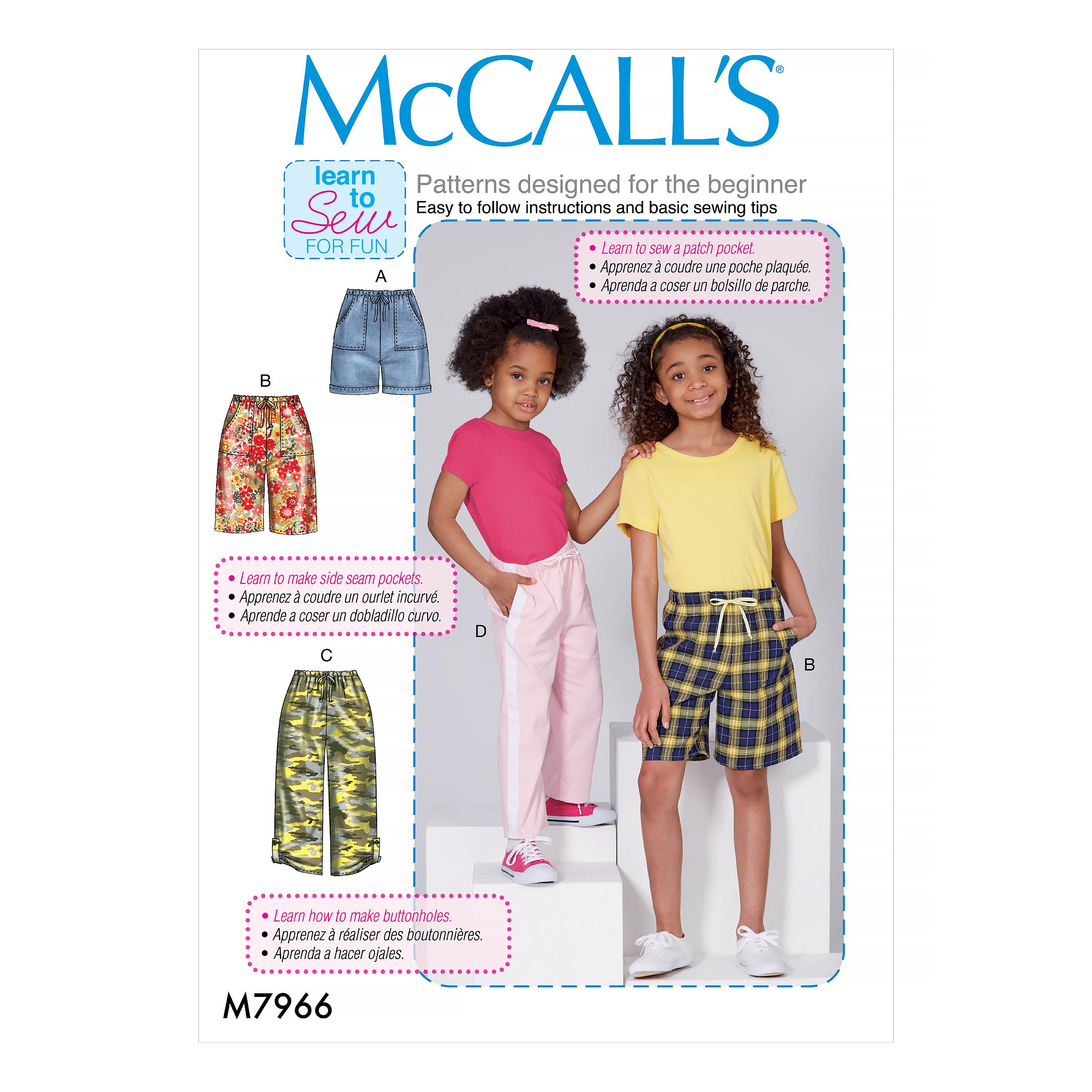 McCalls M7966 Kids Children, Kids Girls & Boys
