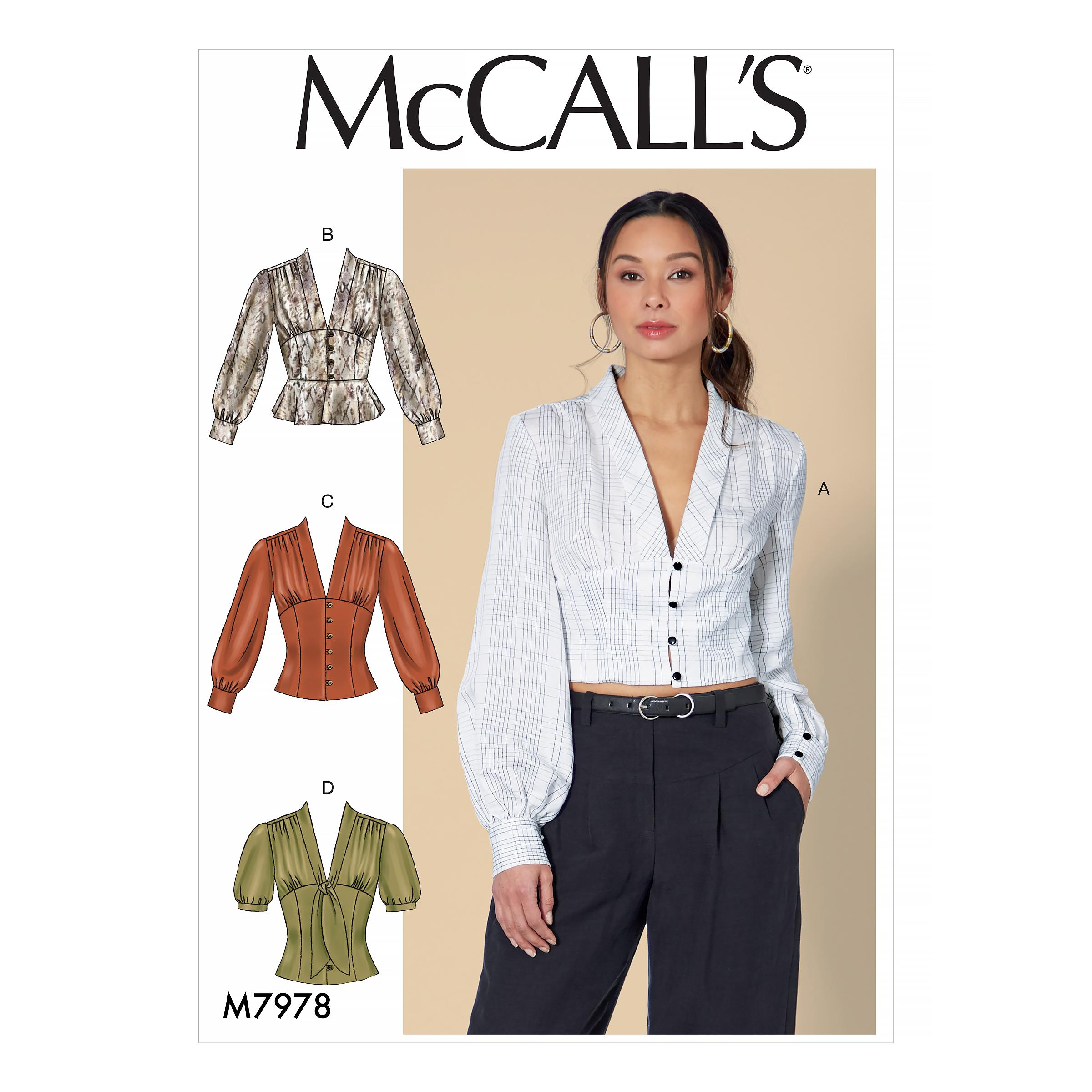 McCalls M7978 Misses Tops