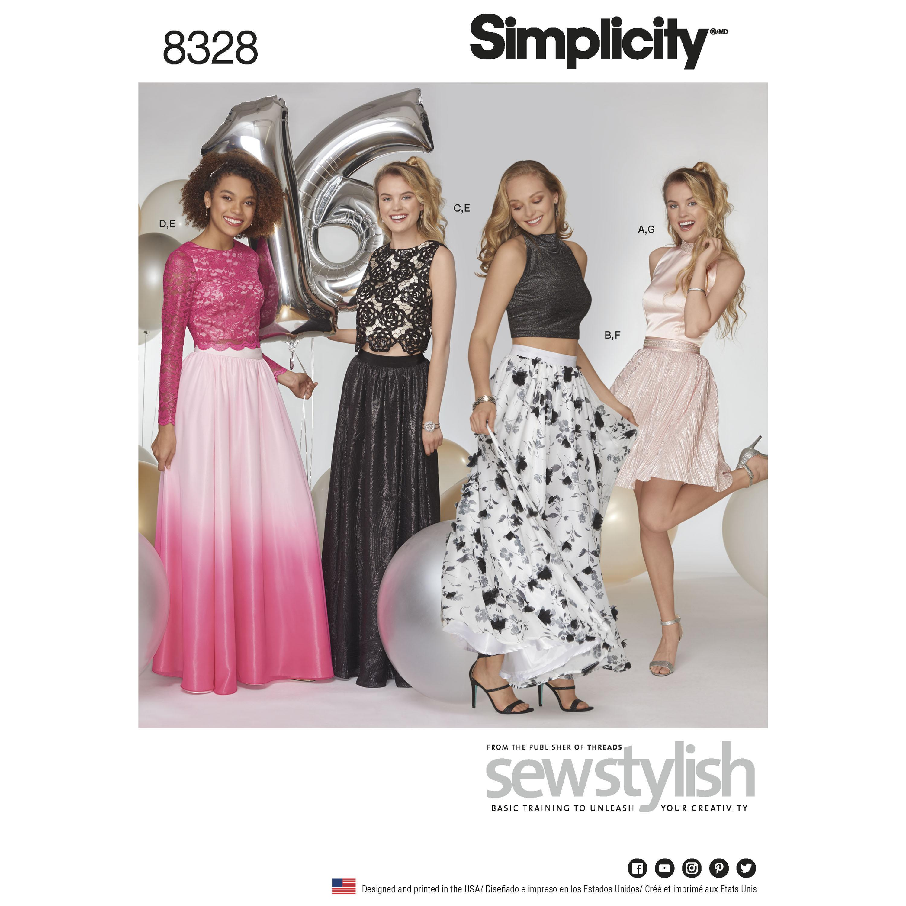 Simplicity S8328 Women's Special Occasions Dress