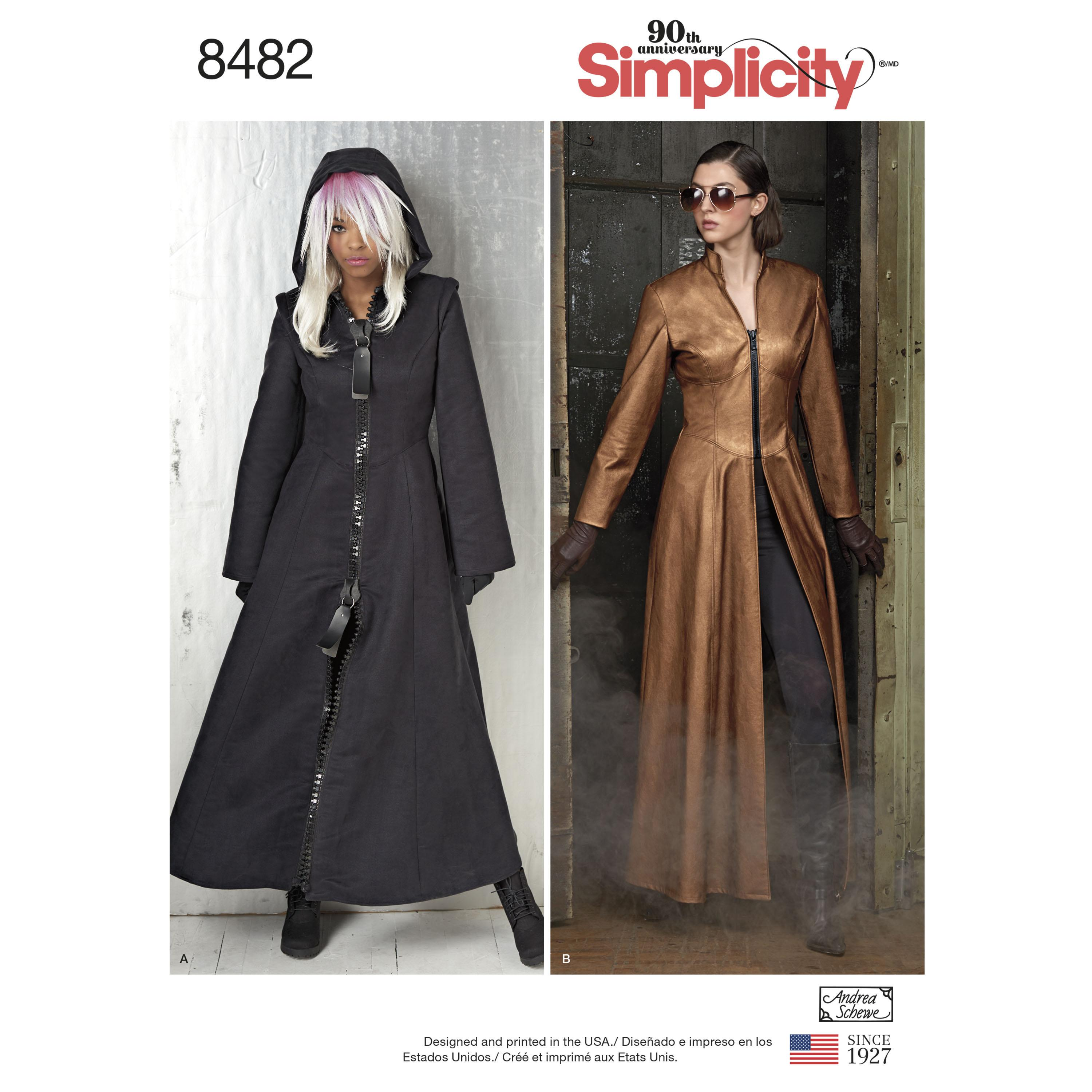 Simplicity S8482 Msses' Costume Coats