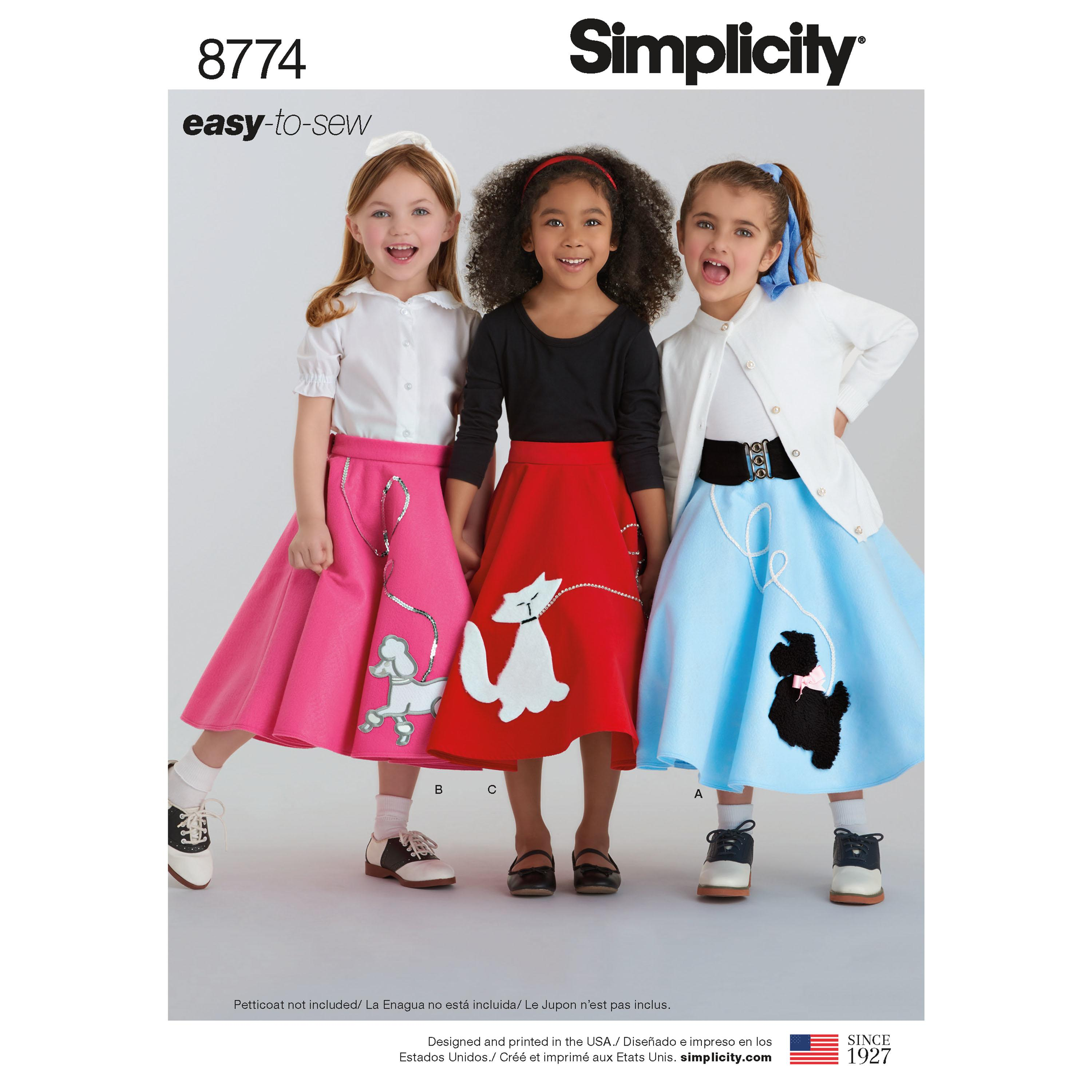 Simplicity S8774 Child's and Girls' Costumes