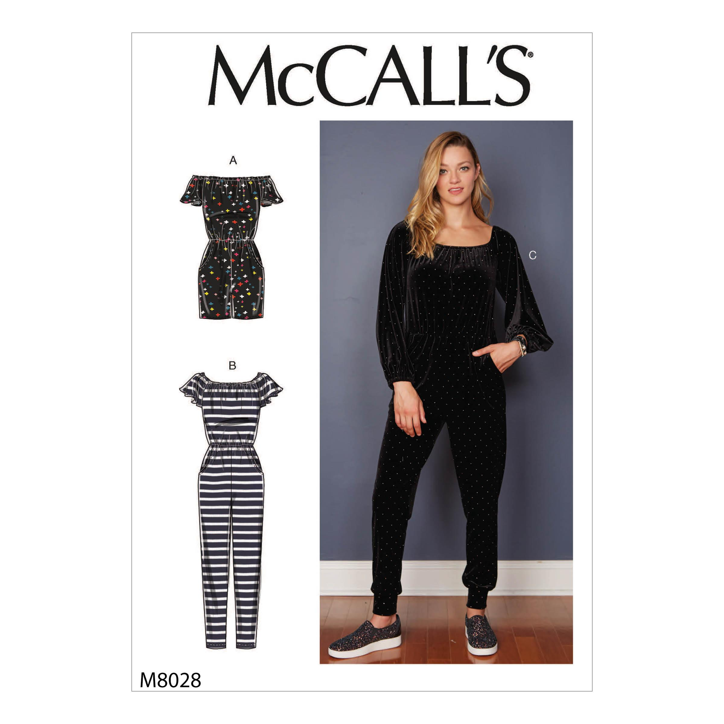 McCalls M8028 Misses Pants, Jumpsuits & Shorts