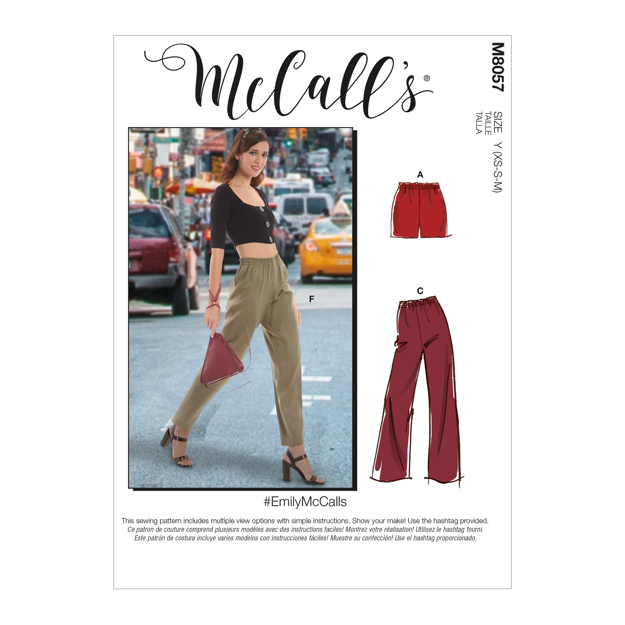 McCalls M8057 Misses Pants, Jumpsuits & Shorts