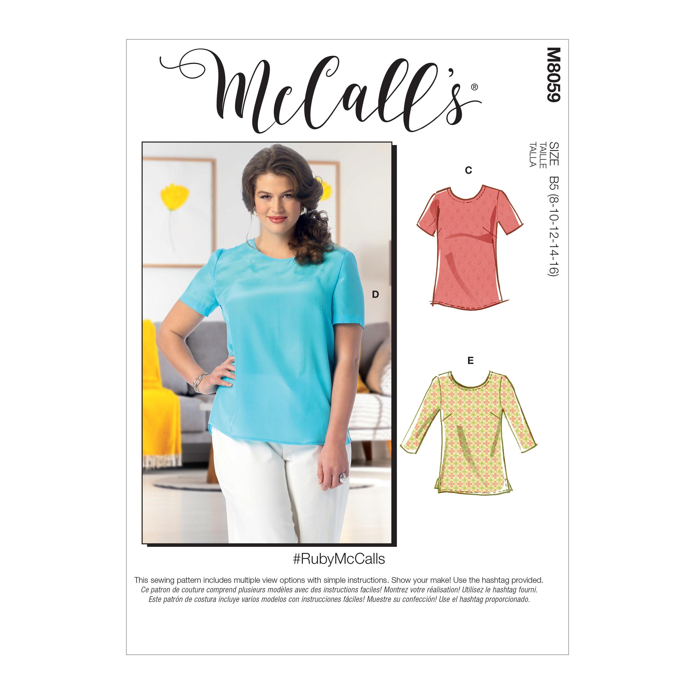 McCalls M8059 Misses Tops|Plus Size