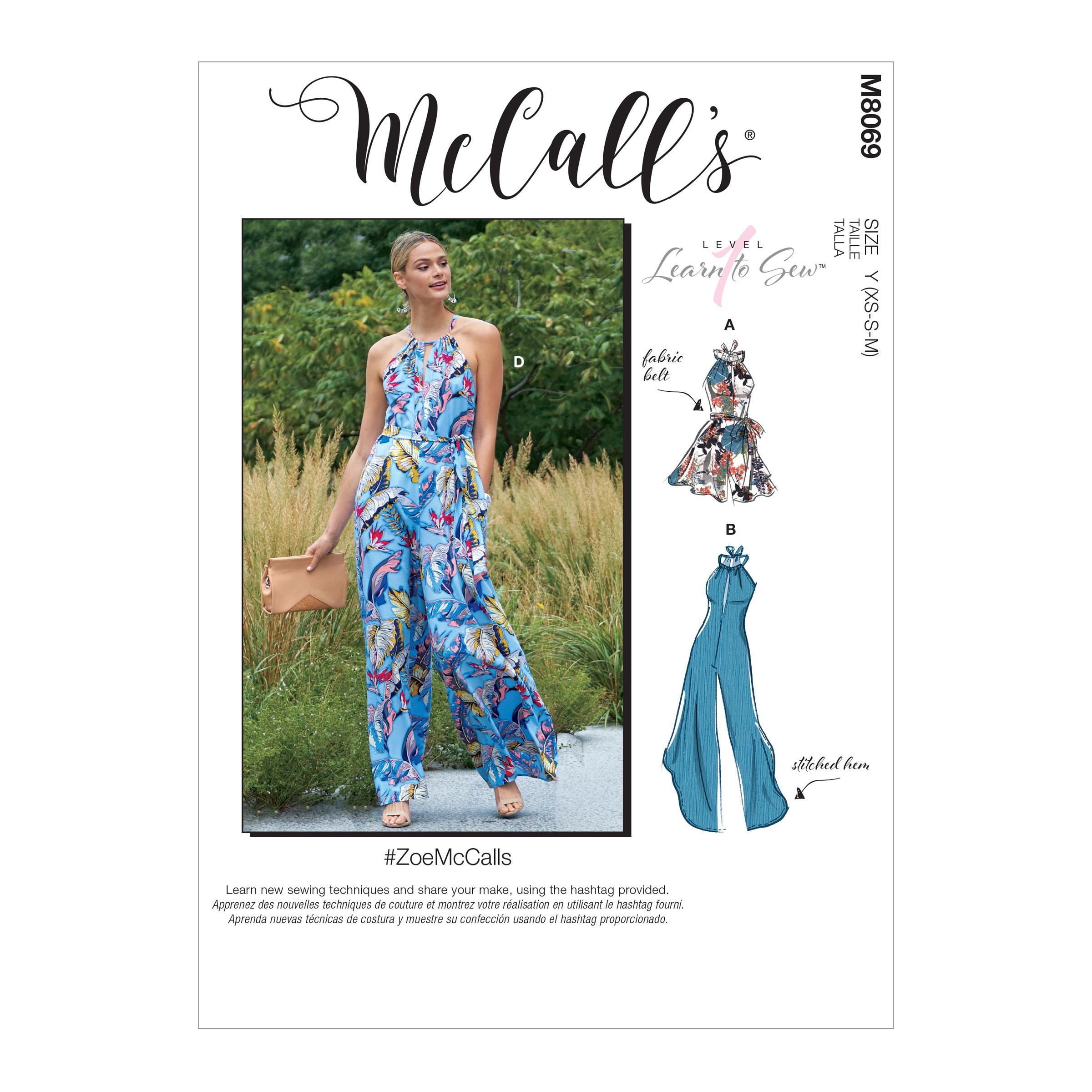 McCalls M8069 Misses Pants, Jumpsuits & Shorts