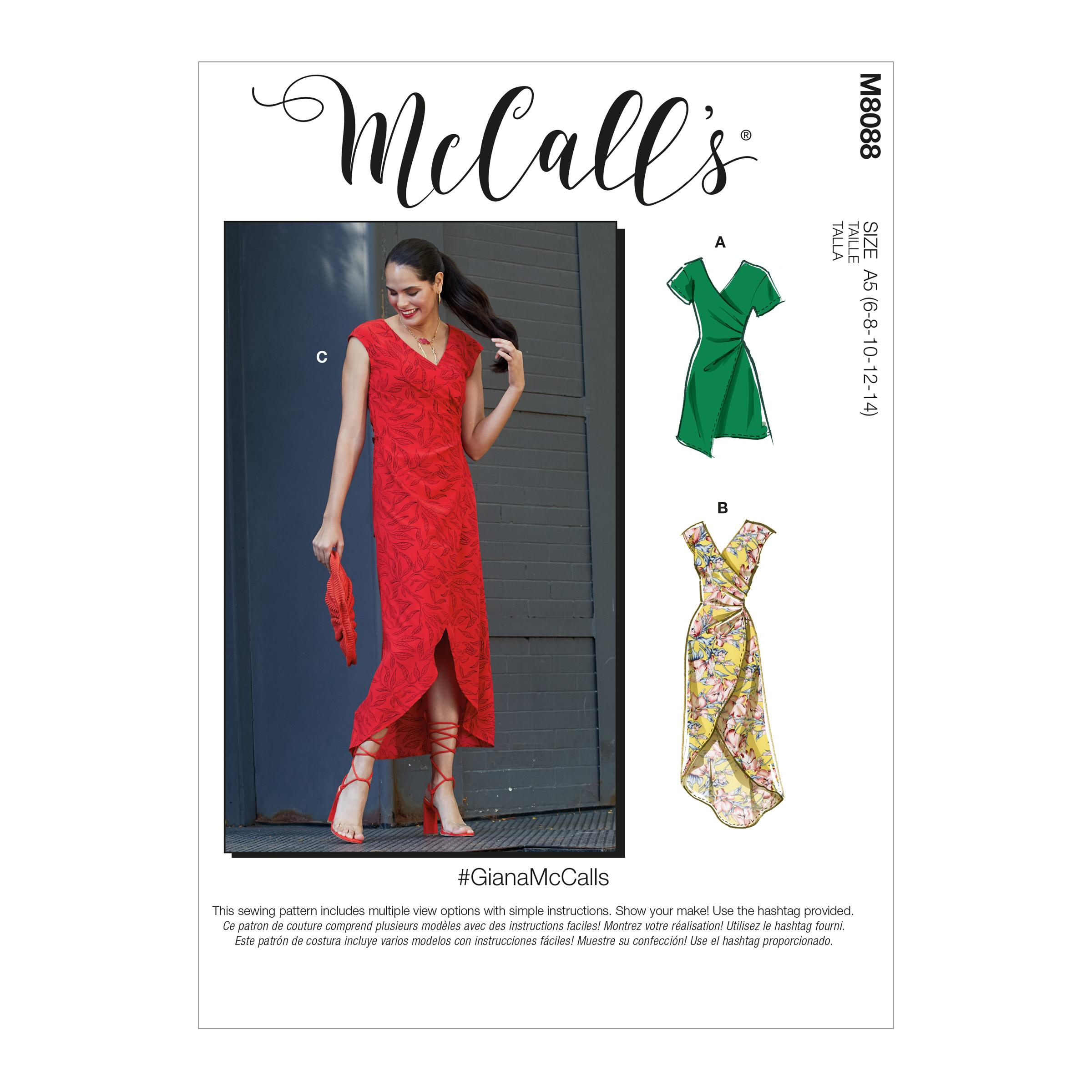 McCalls M8088 #GianaMcCalls - Misses' Dresses