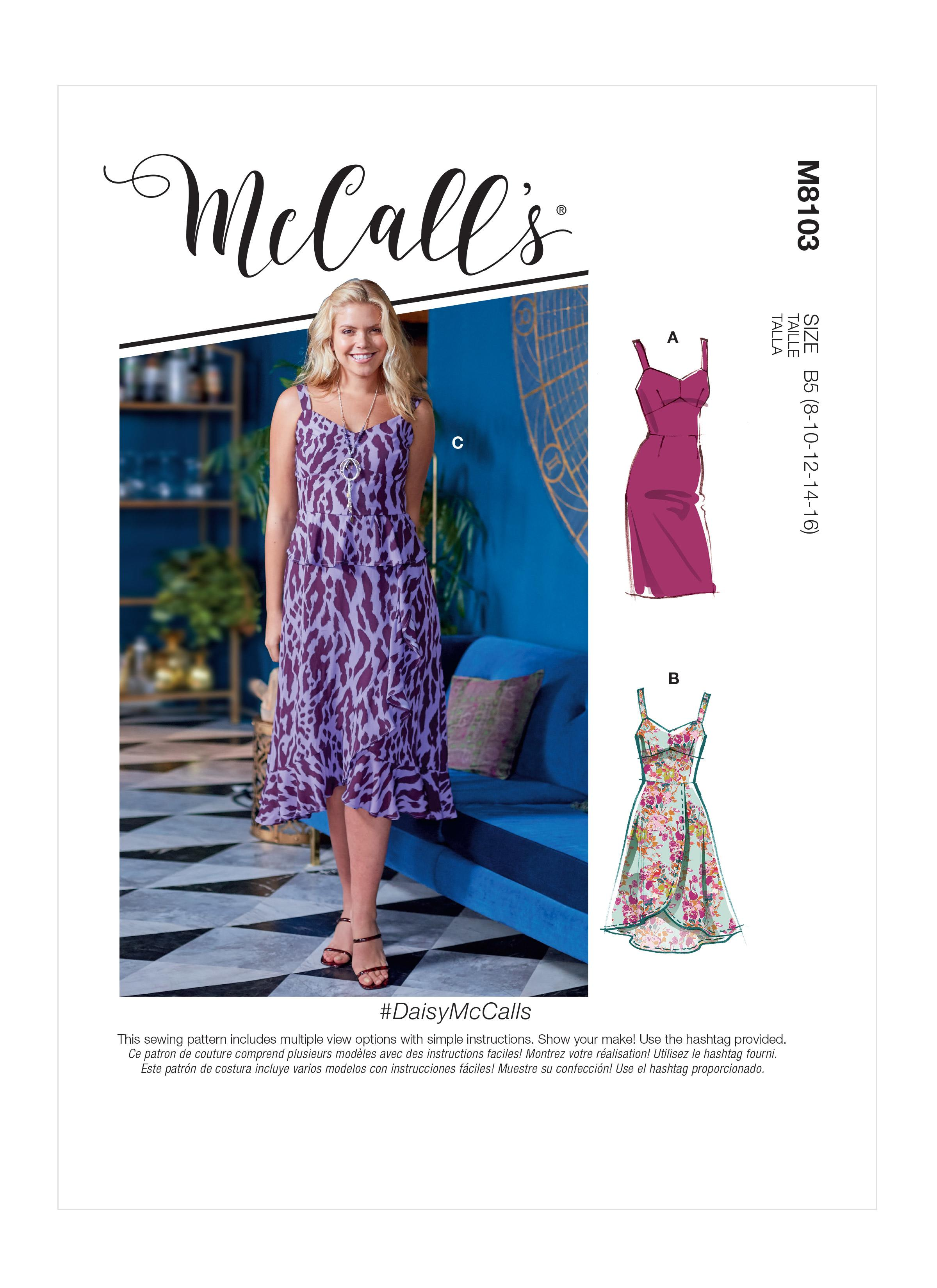 McCalls M8103 #DaisyMcCalls - Misses' & Women's Dresses With Cup Sizes