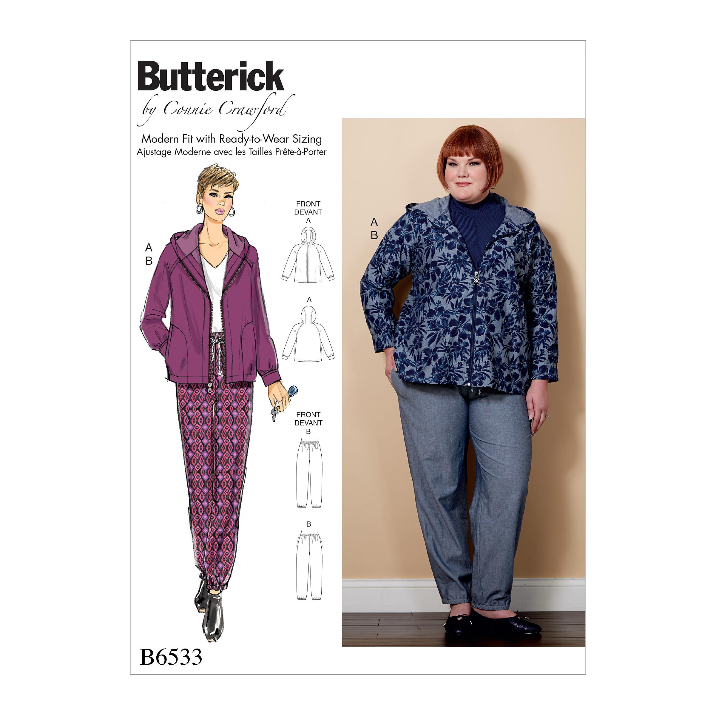 Butterick B6533 Miss/Women's Jacket and Pants