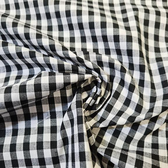 "1/4"" Gingham Polycotton Black"