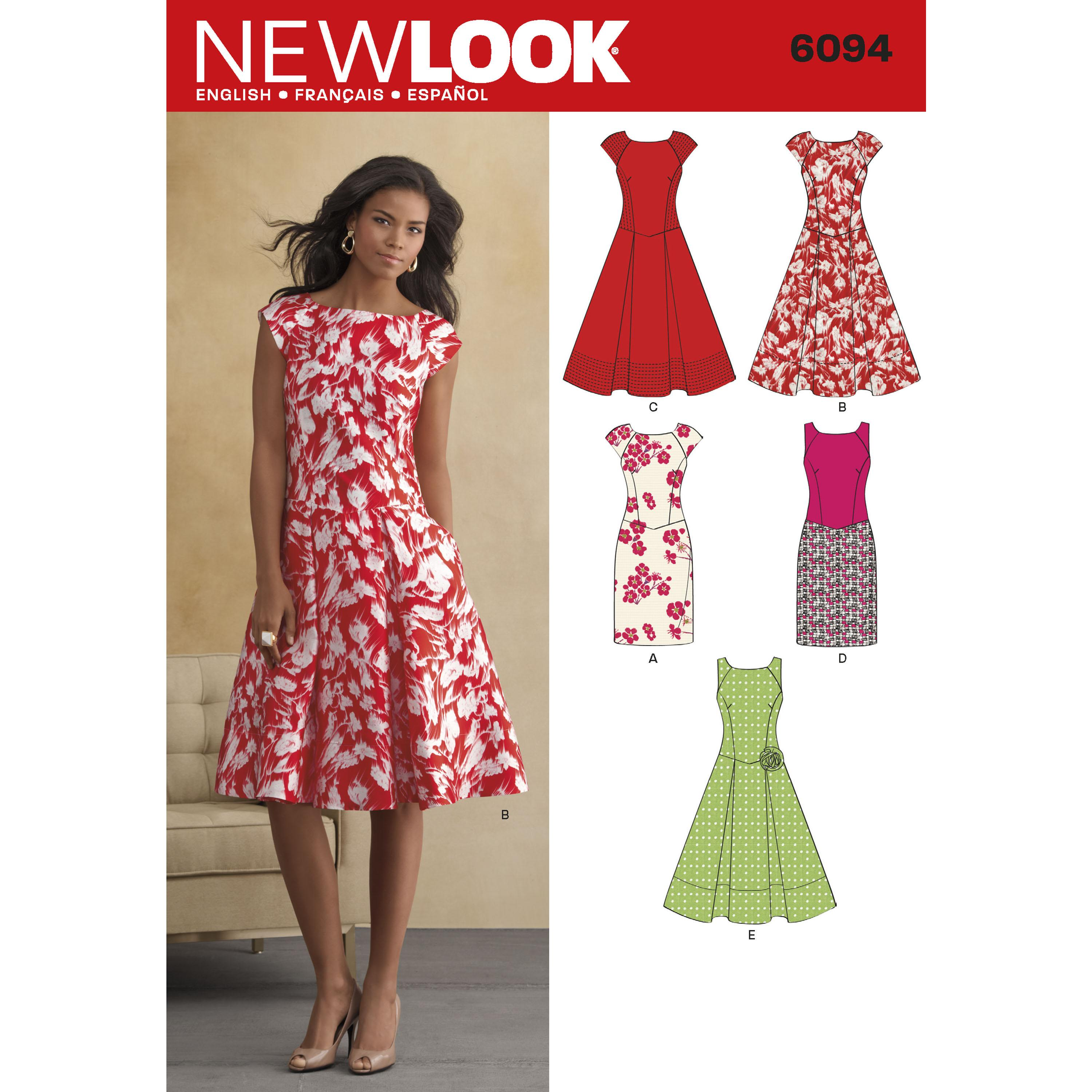 NewLook N6094 Misses' Dresses