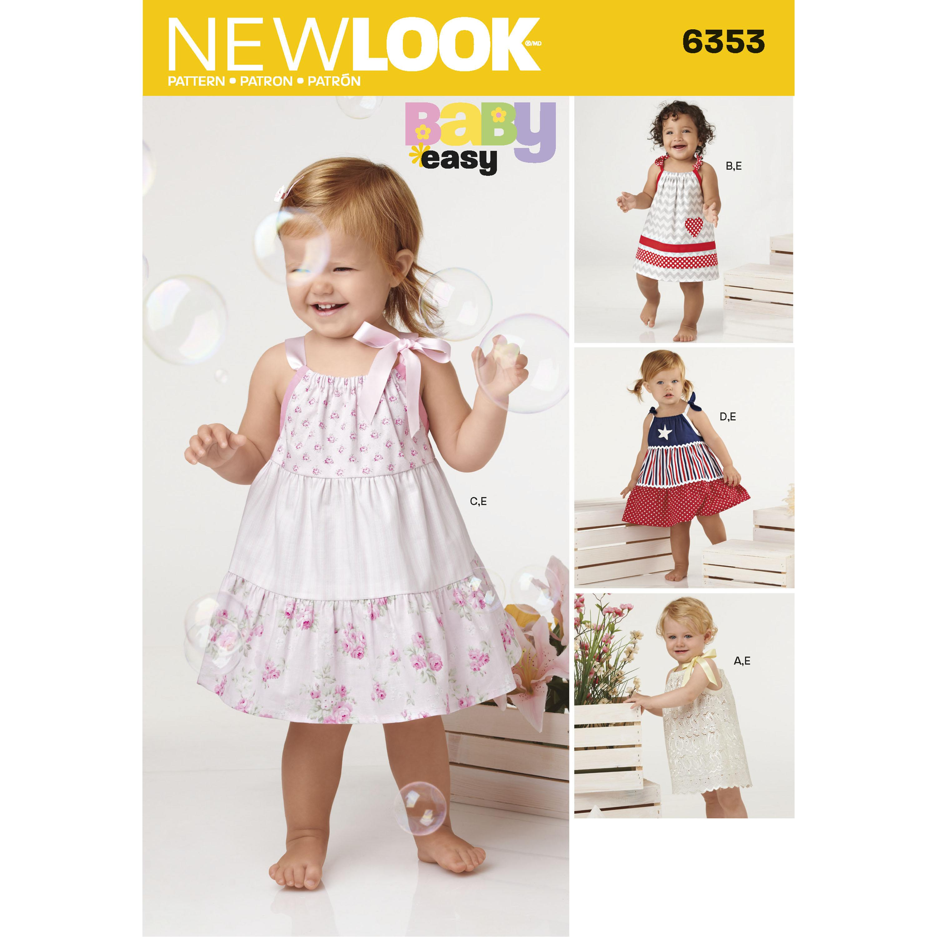 NewLook N6353 Babies' Dresses and Panties