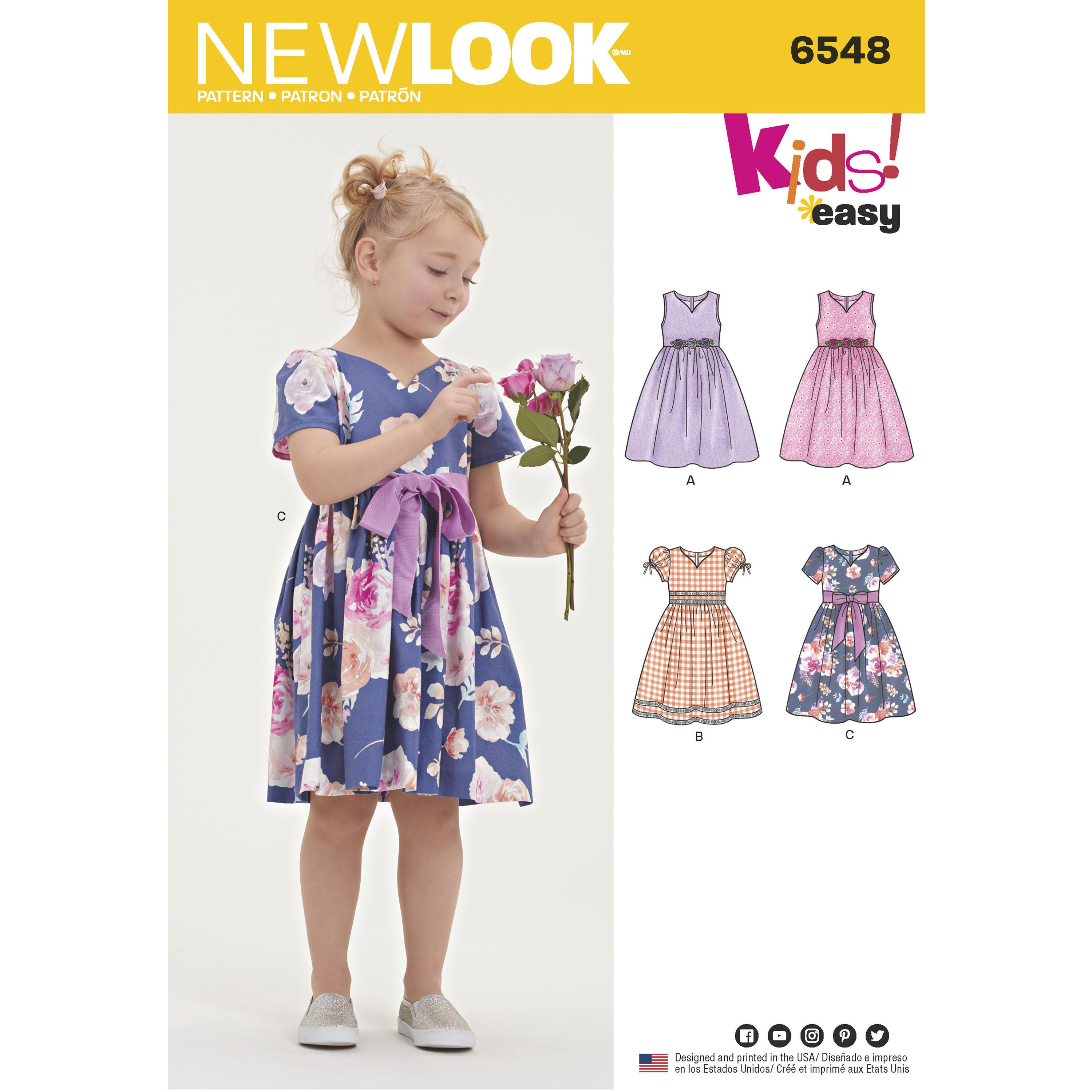 NewLook N6548 Child's Party Dress