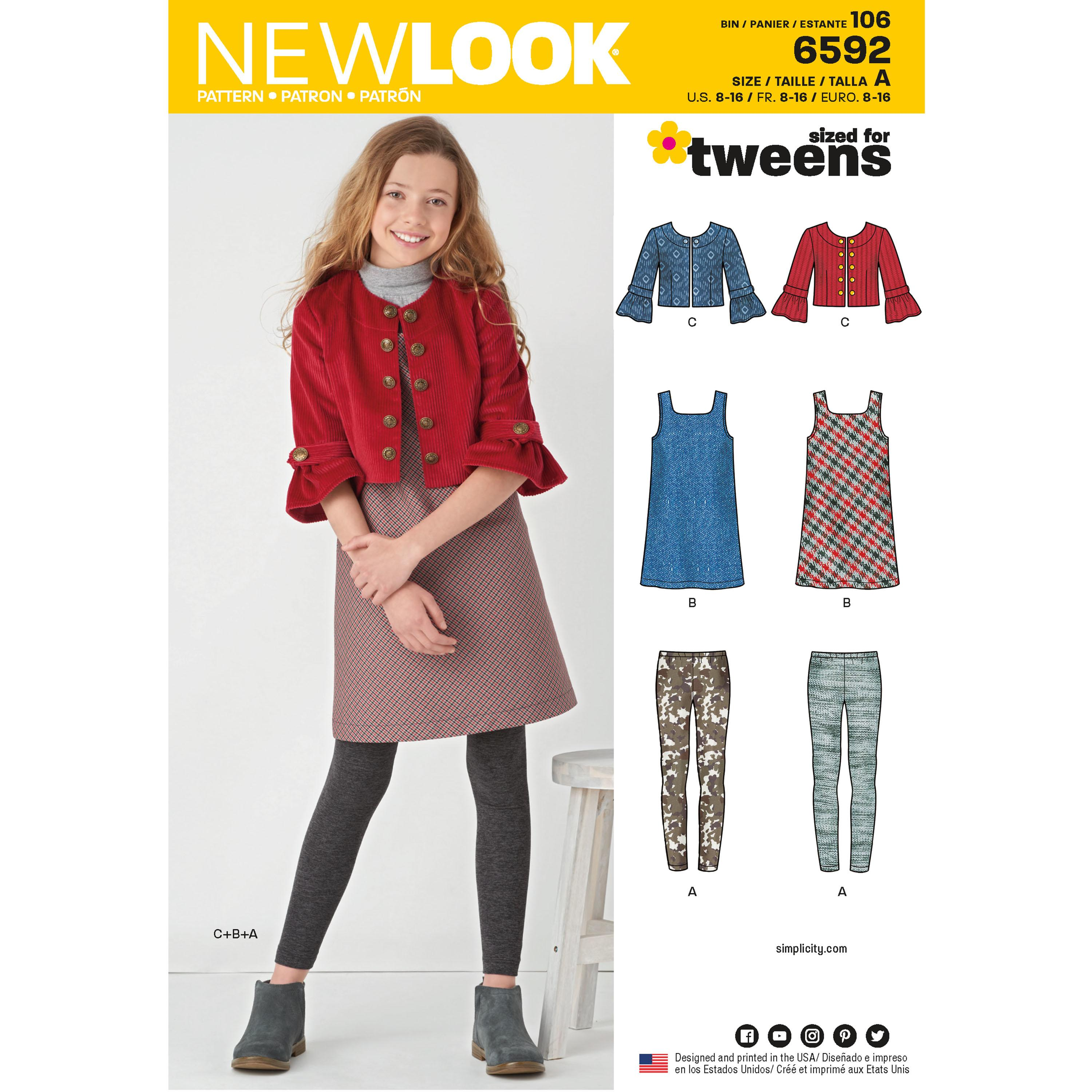 NewLook N6592 Girl's Sportswear