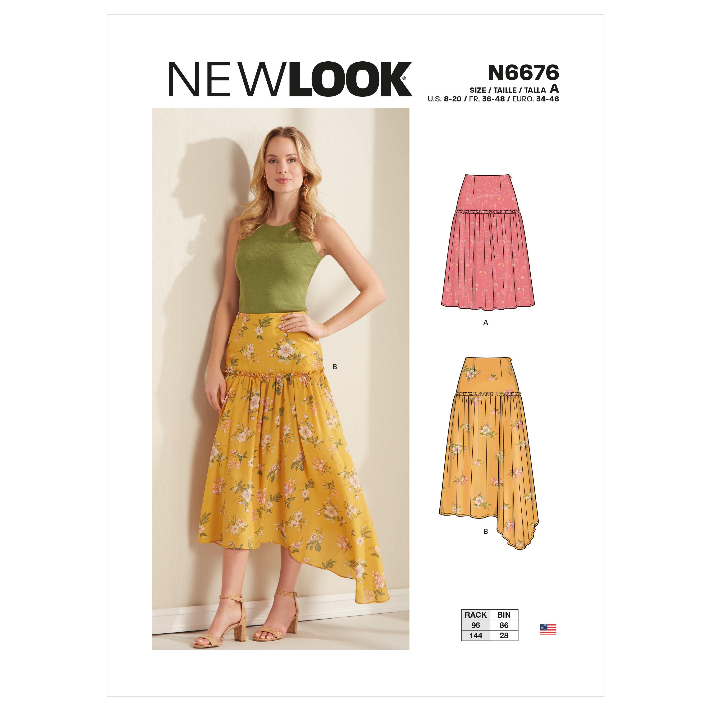 New Look Sewing Pattern N6676 Misses Skirts
