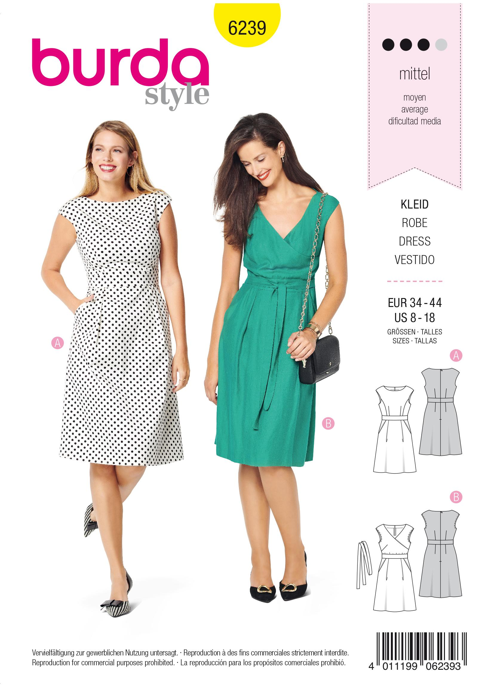 Burda B6239 Dress Sewing Pattern