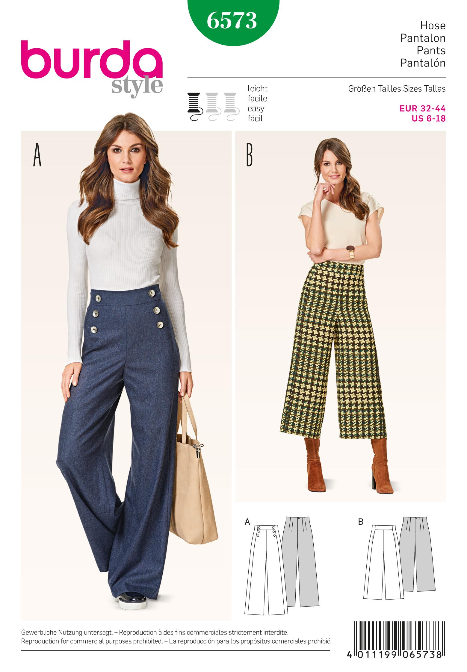 Burda 6573 Trousers