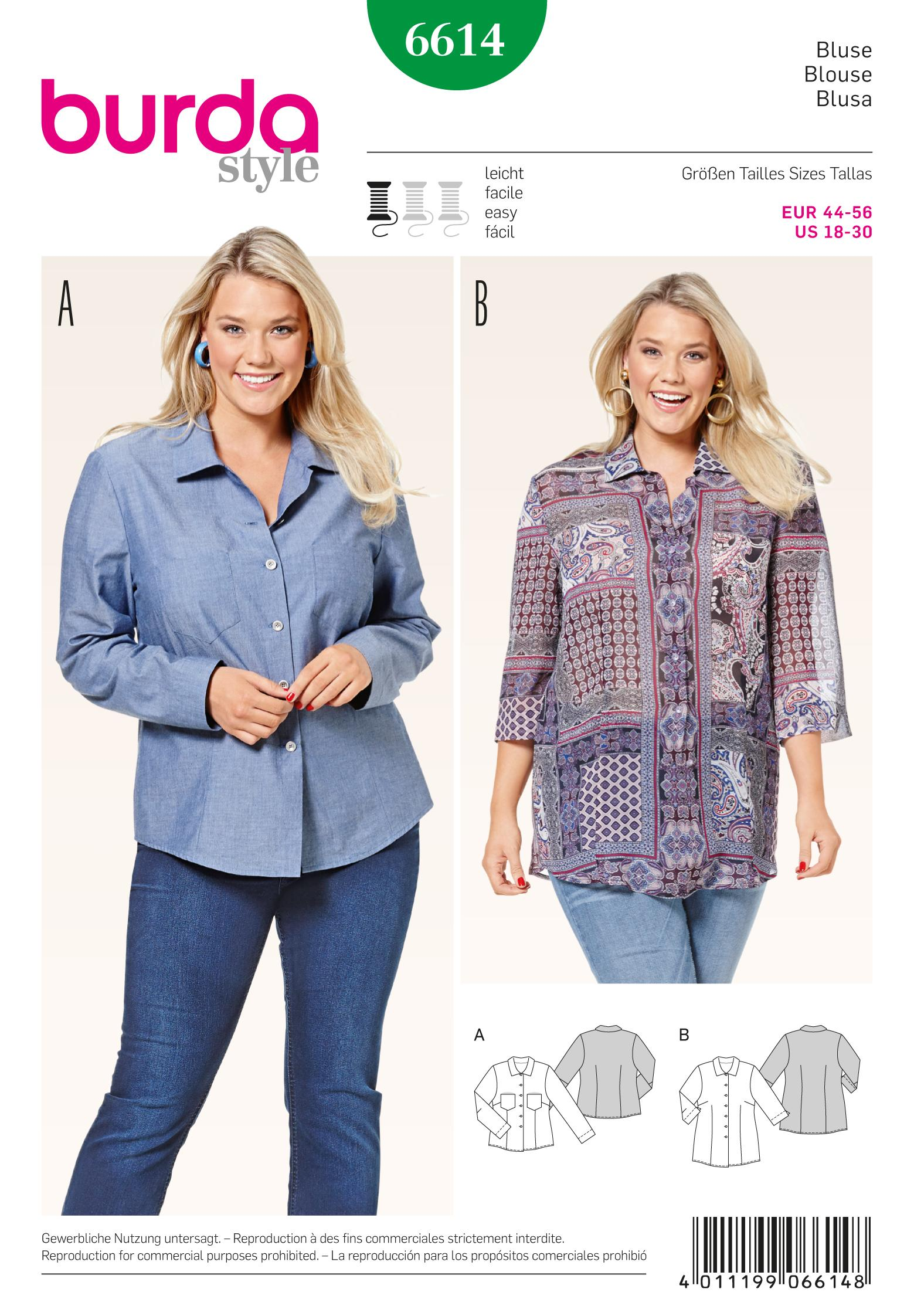 Burda 6614 Blouse