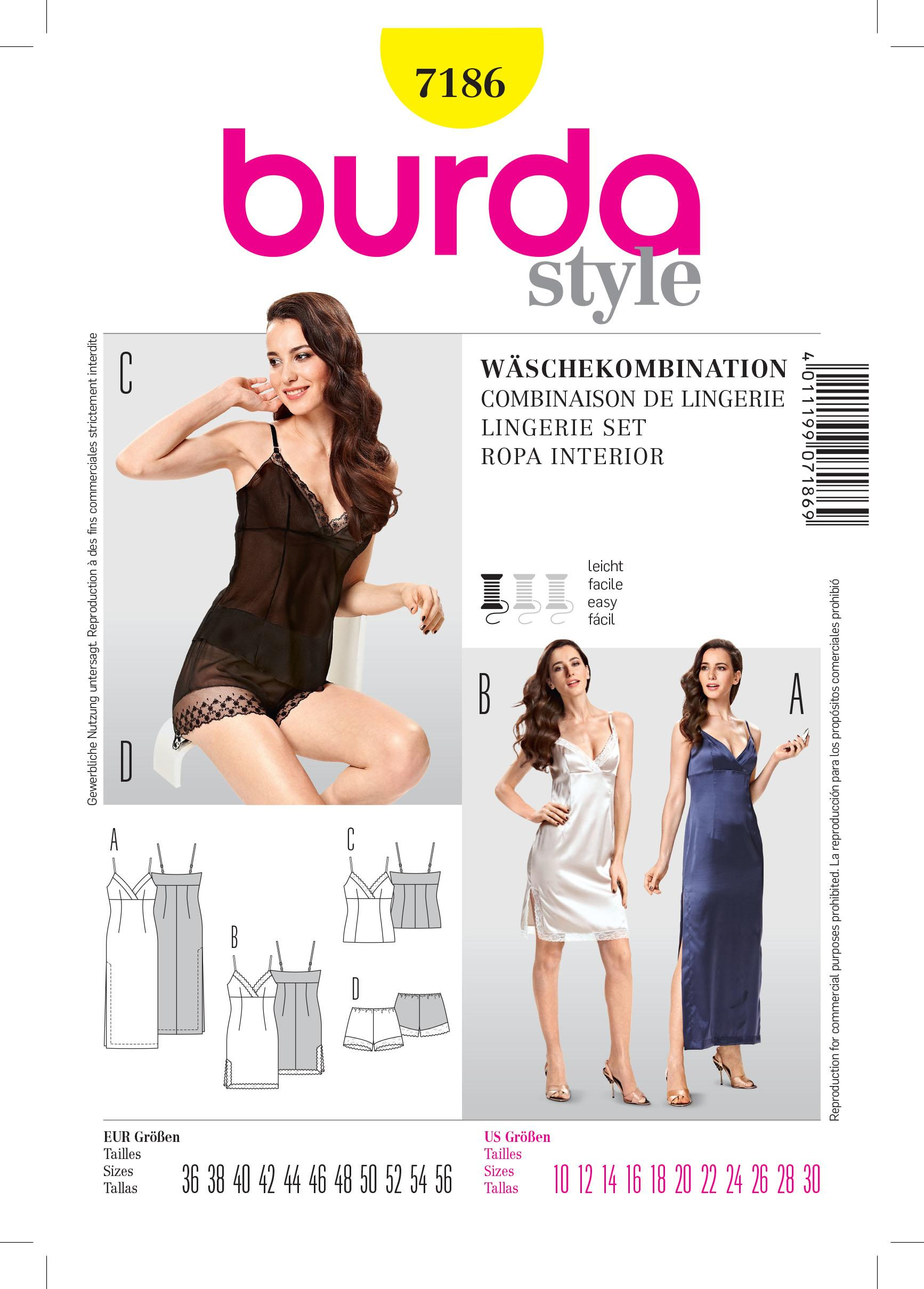 Burda B7186 History Sewing Pattern